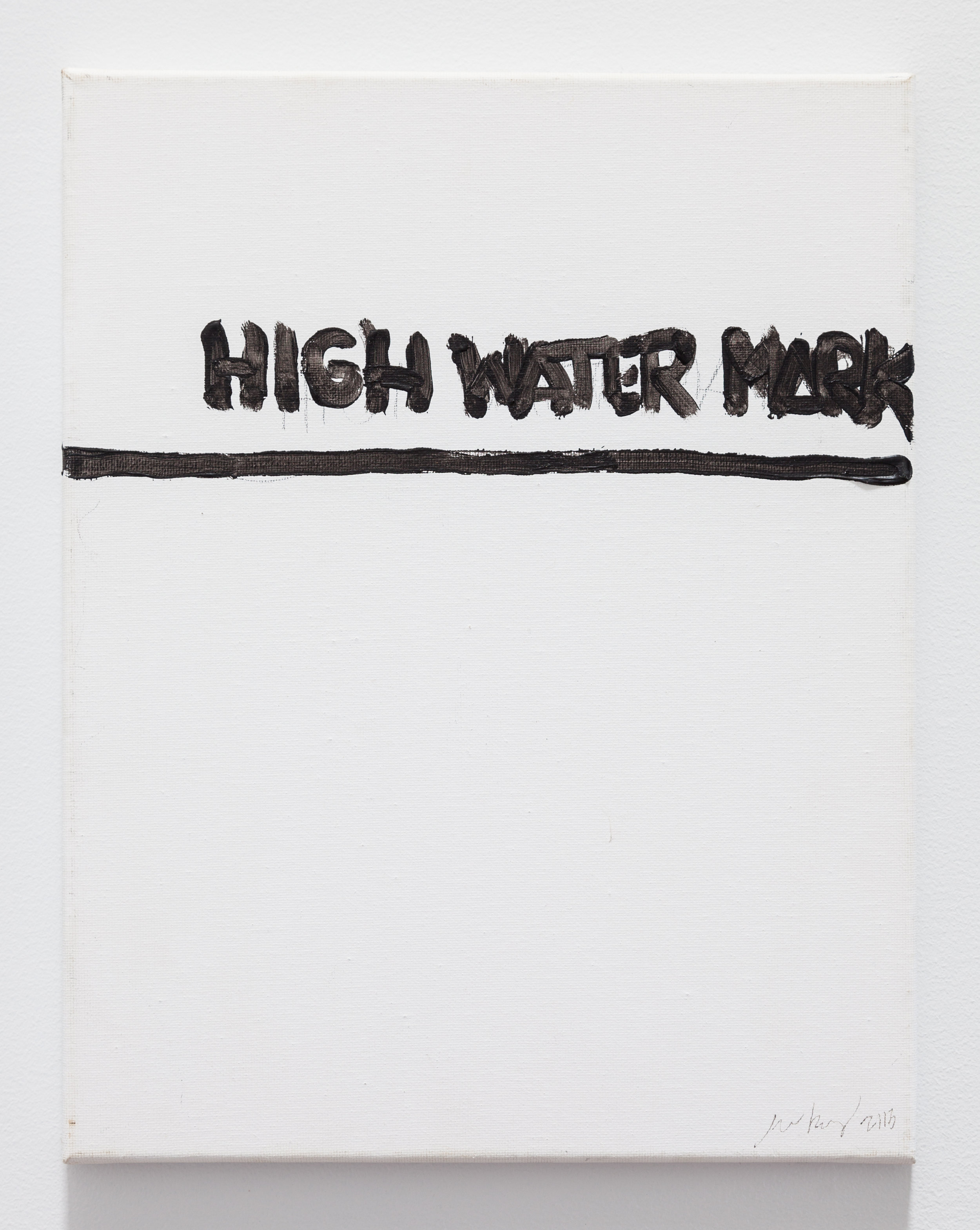 Gene Beery,  High Water Mark , 2010, acrylic on canvas, 14 x 11 in