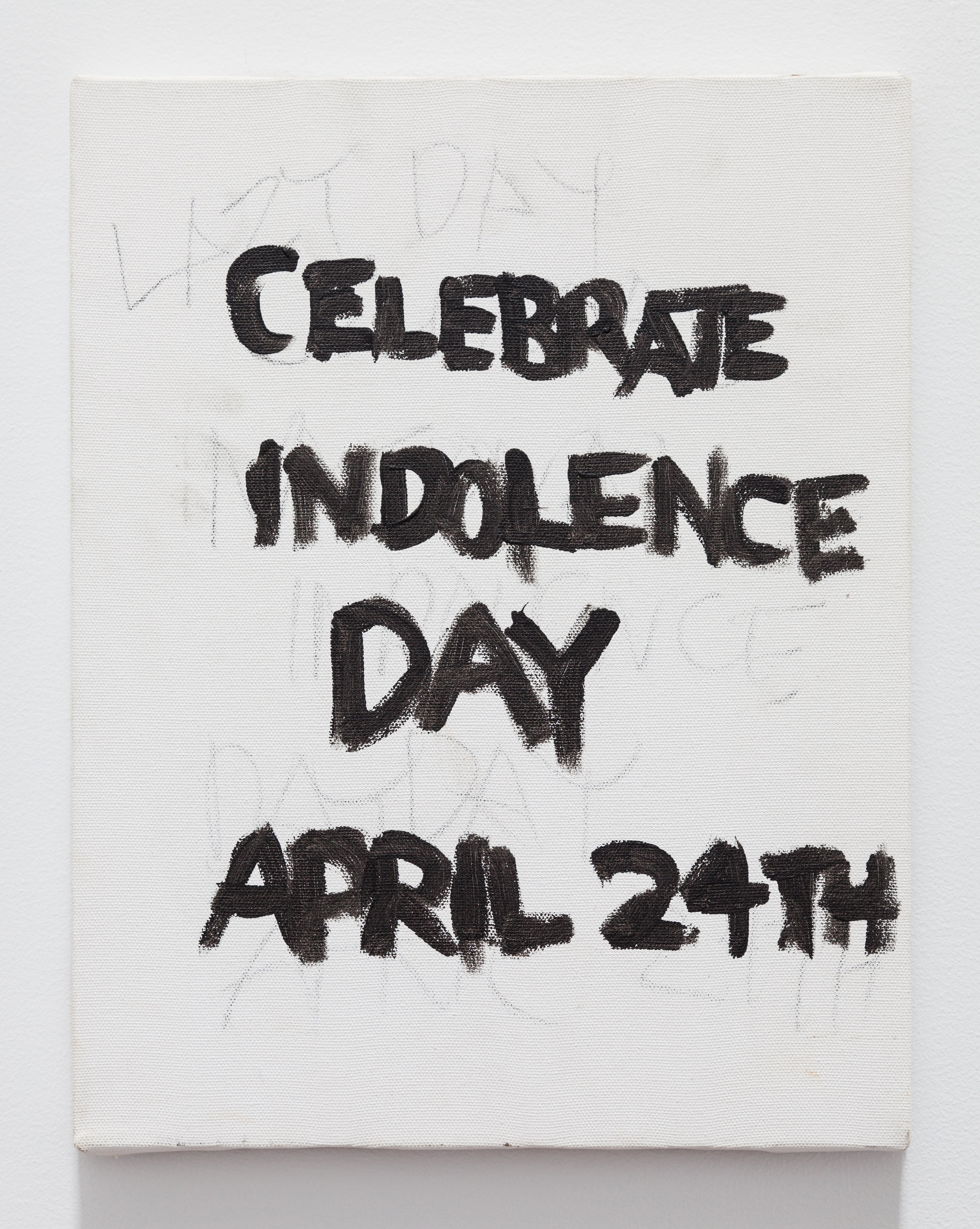 Gene Beery,  Celebrate Indolence Day , 2009, acrylic on canvas, 14 x 11 in