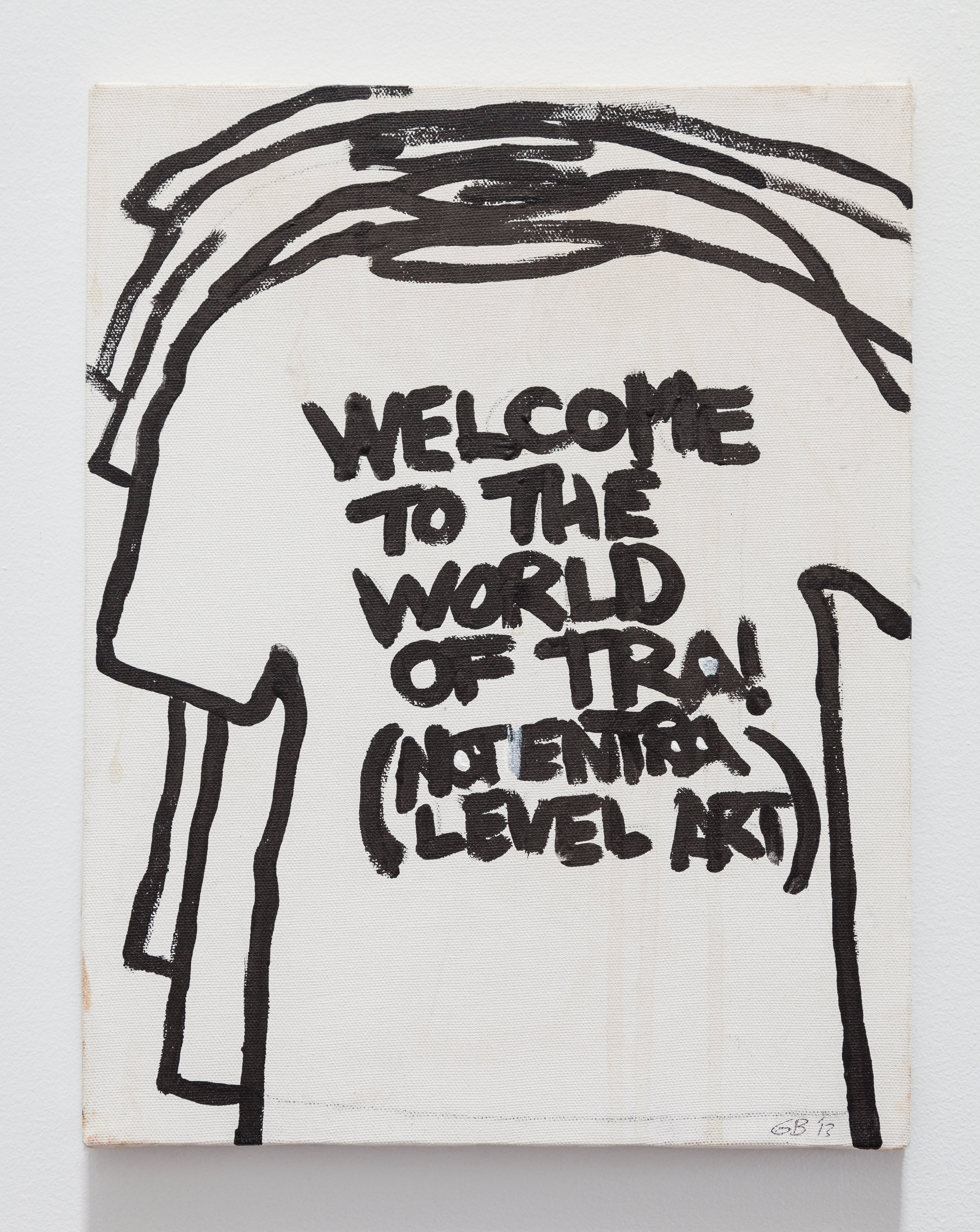 Gene Beery,  Welcome to the World of TRA , 2009, acrylic on canvas, 14 x 11 in