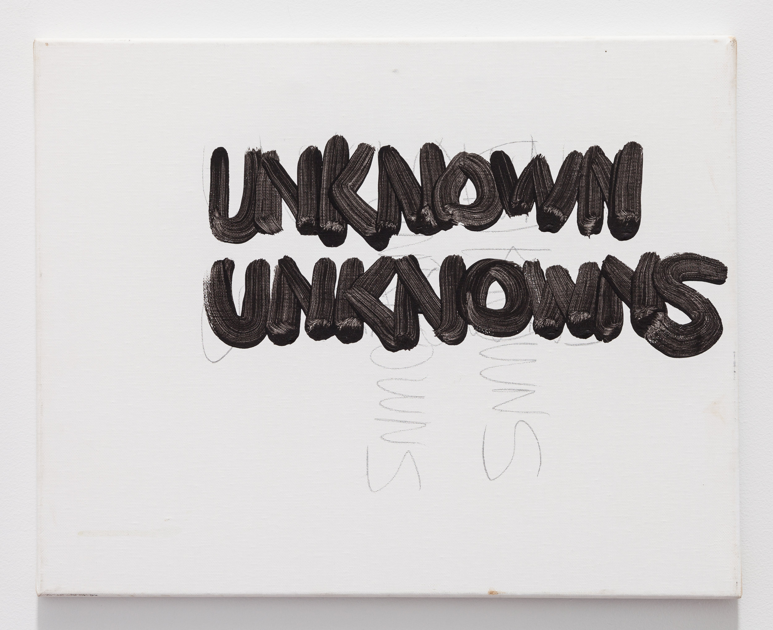 Gene Beery,  Unkowns Unkowns , 2006, acrylic on canvas, 20 x 16 in