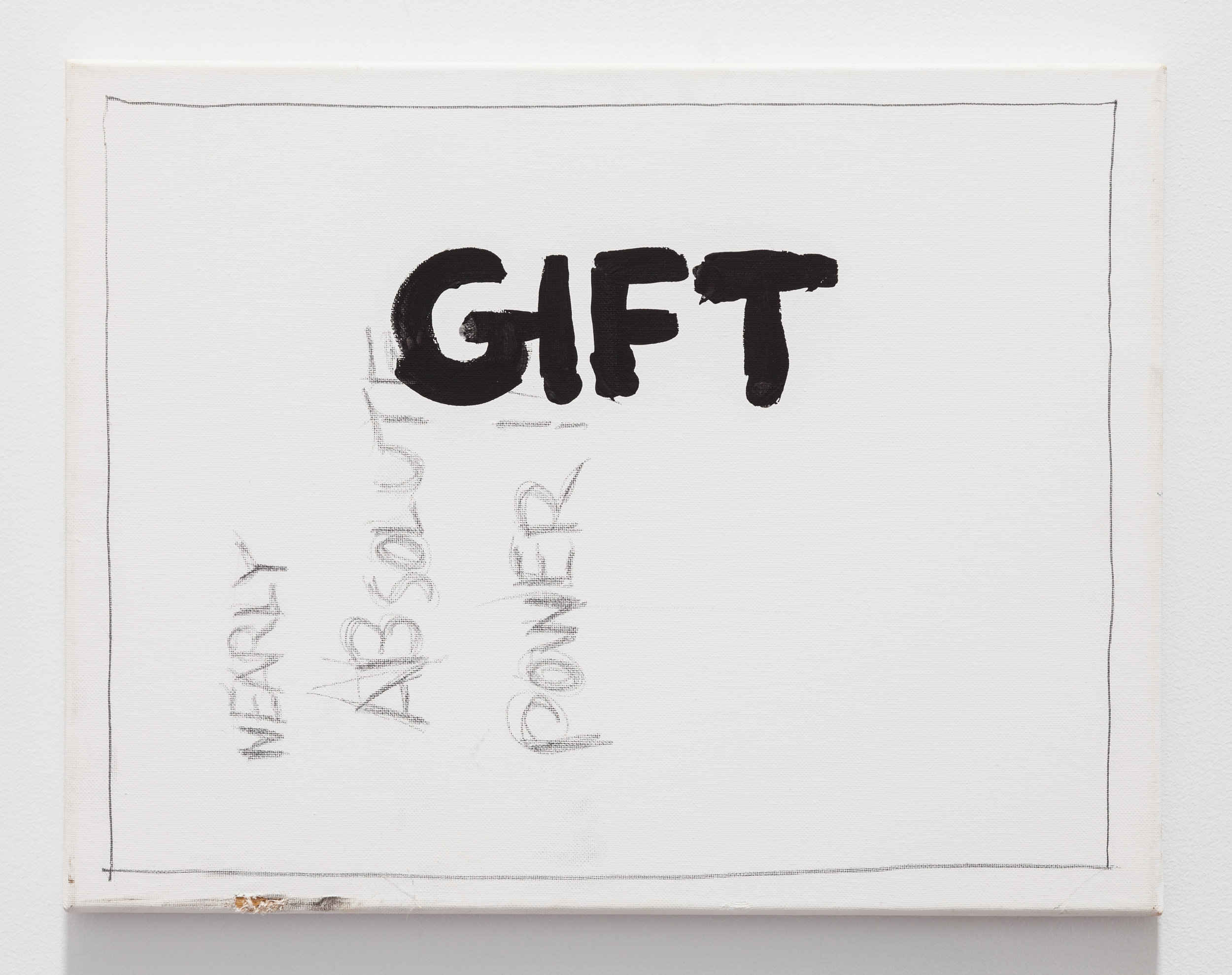 Gene Beery,  Gift , 2001, acrylic on canvas, 14 x 20 in