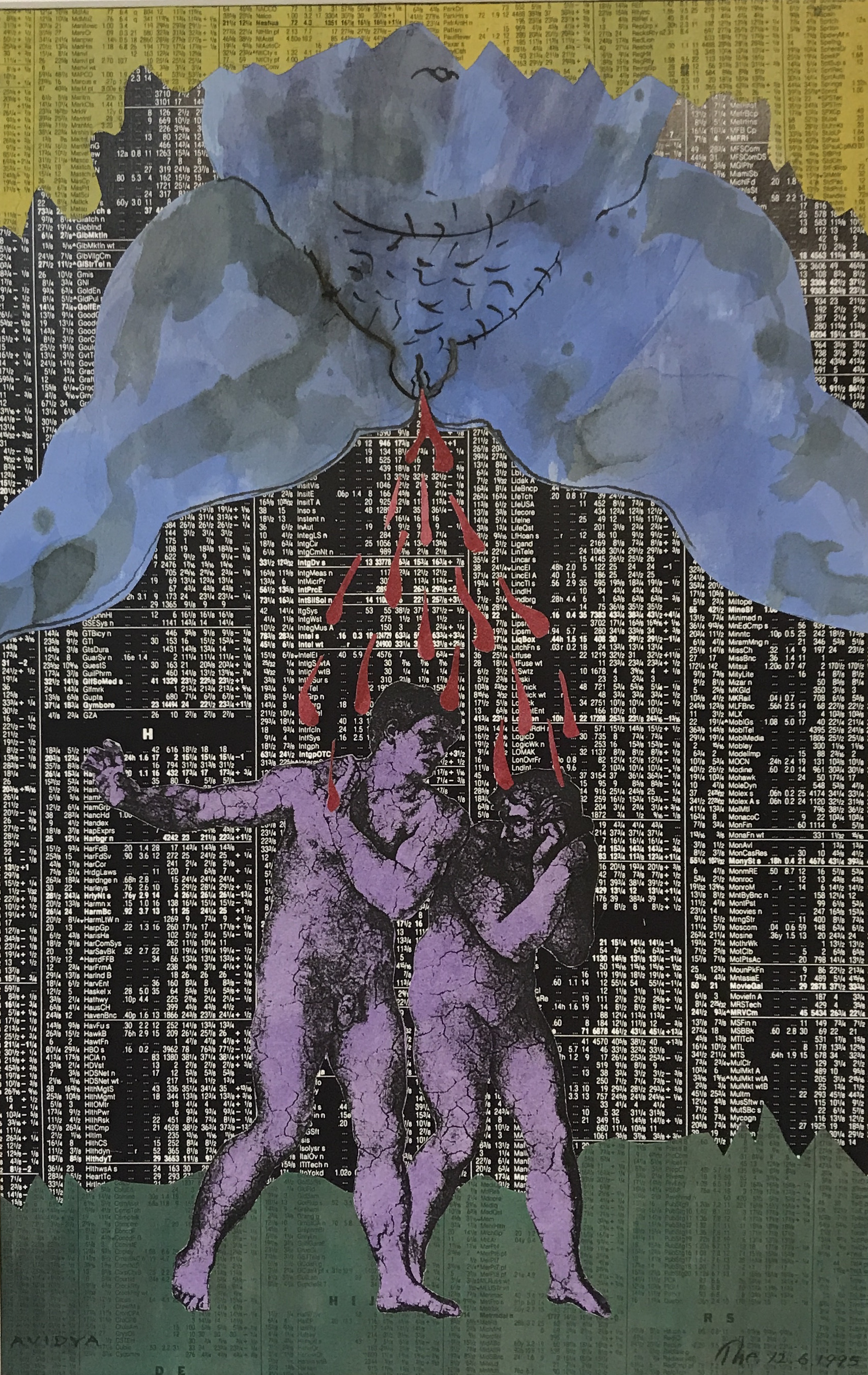Theodore Titolo,   Avidya , 1995, collage, 20 x 16 in