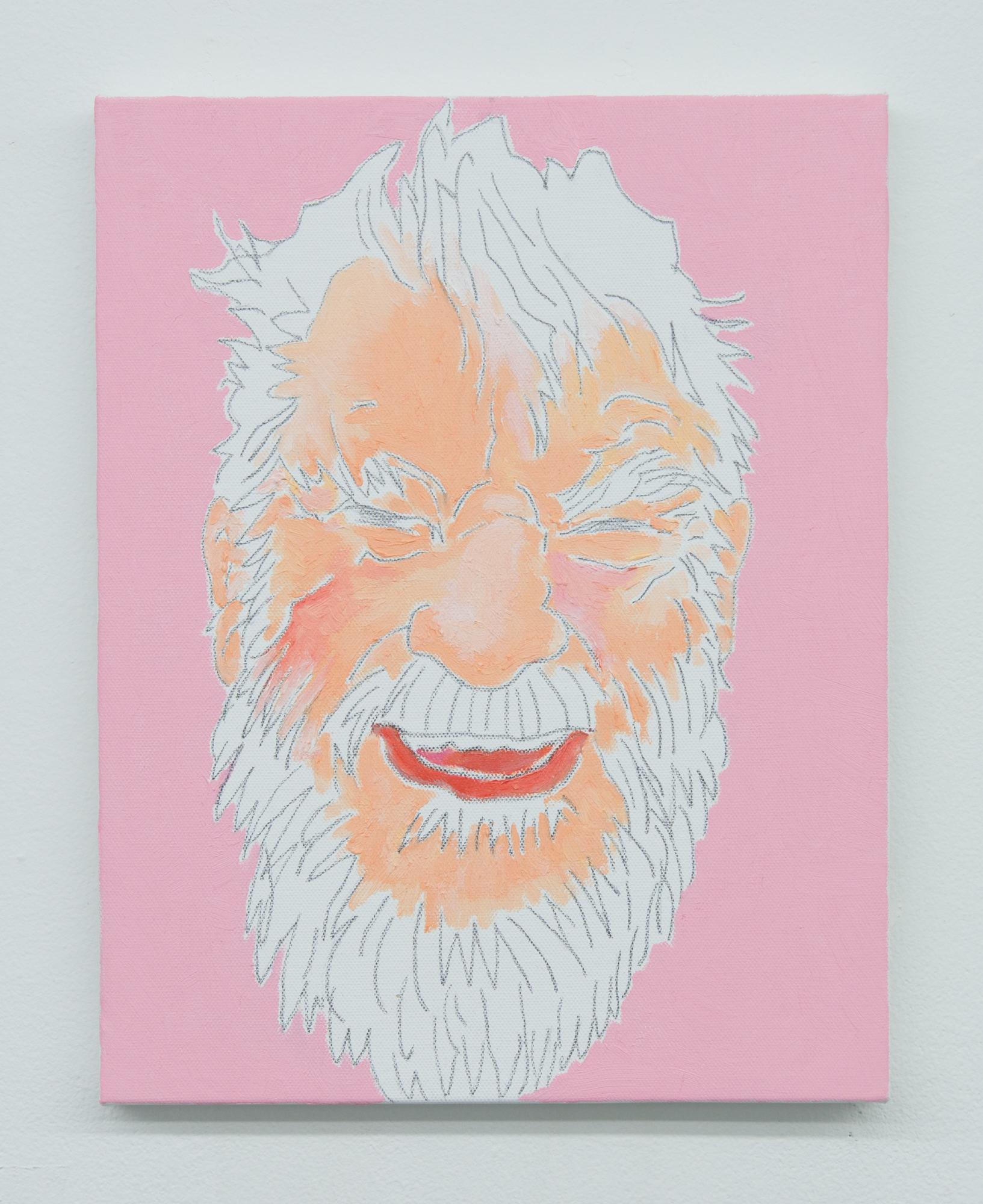 Mieko Meguro, Dan , 2017, oil and graphite on canvas, 14 x11 in