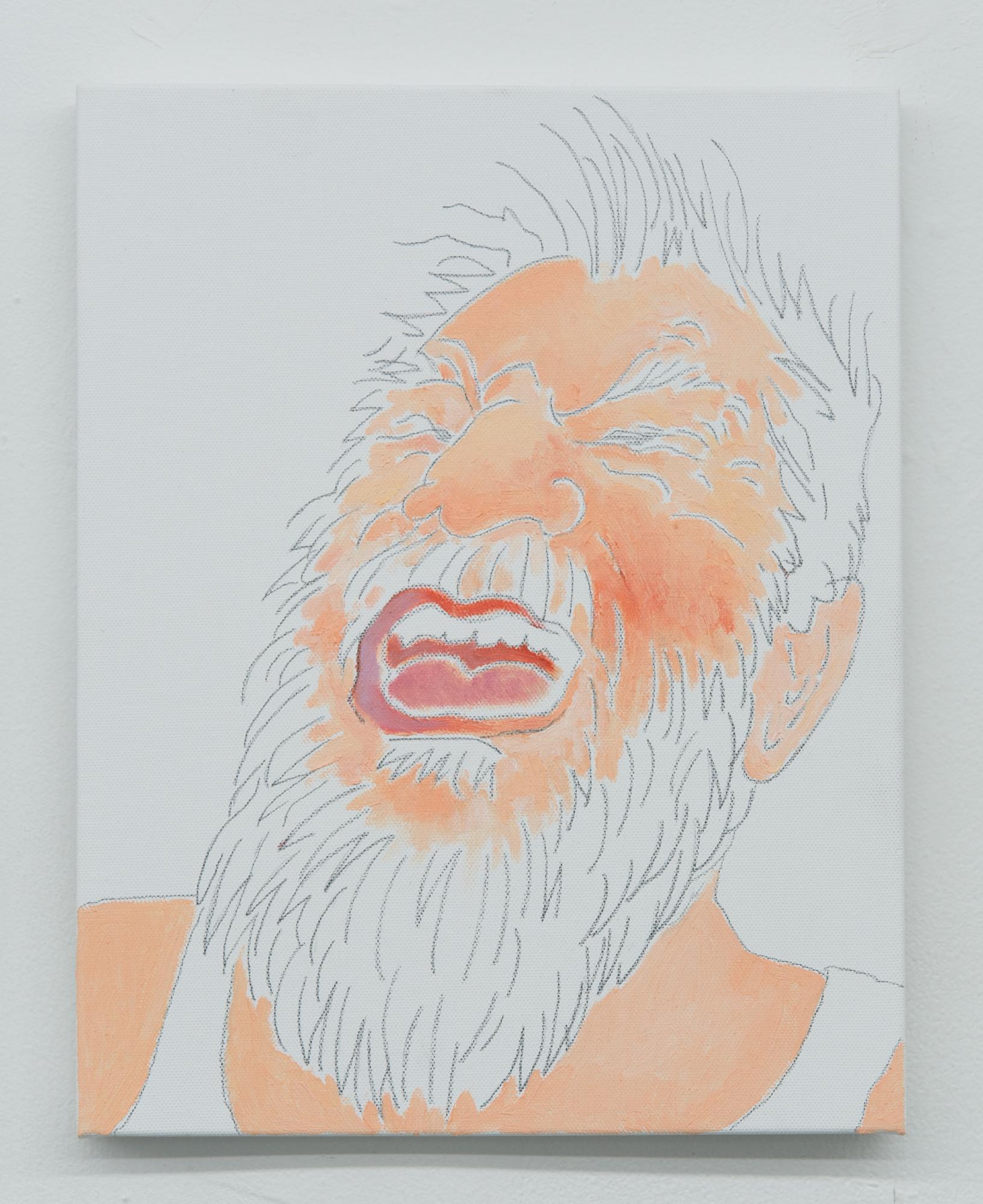 Mieko Meguro, Dan , 2017, oil and graphite on canvas, 14 x 11 in