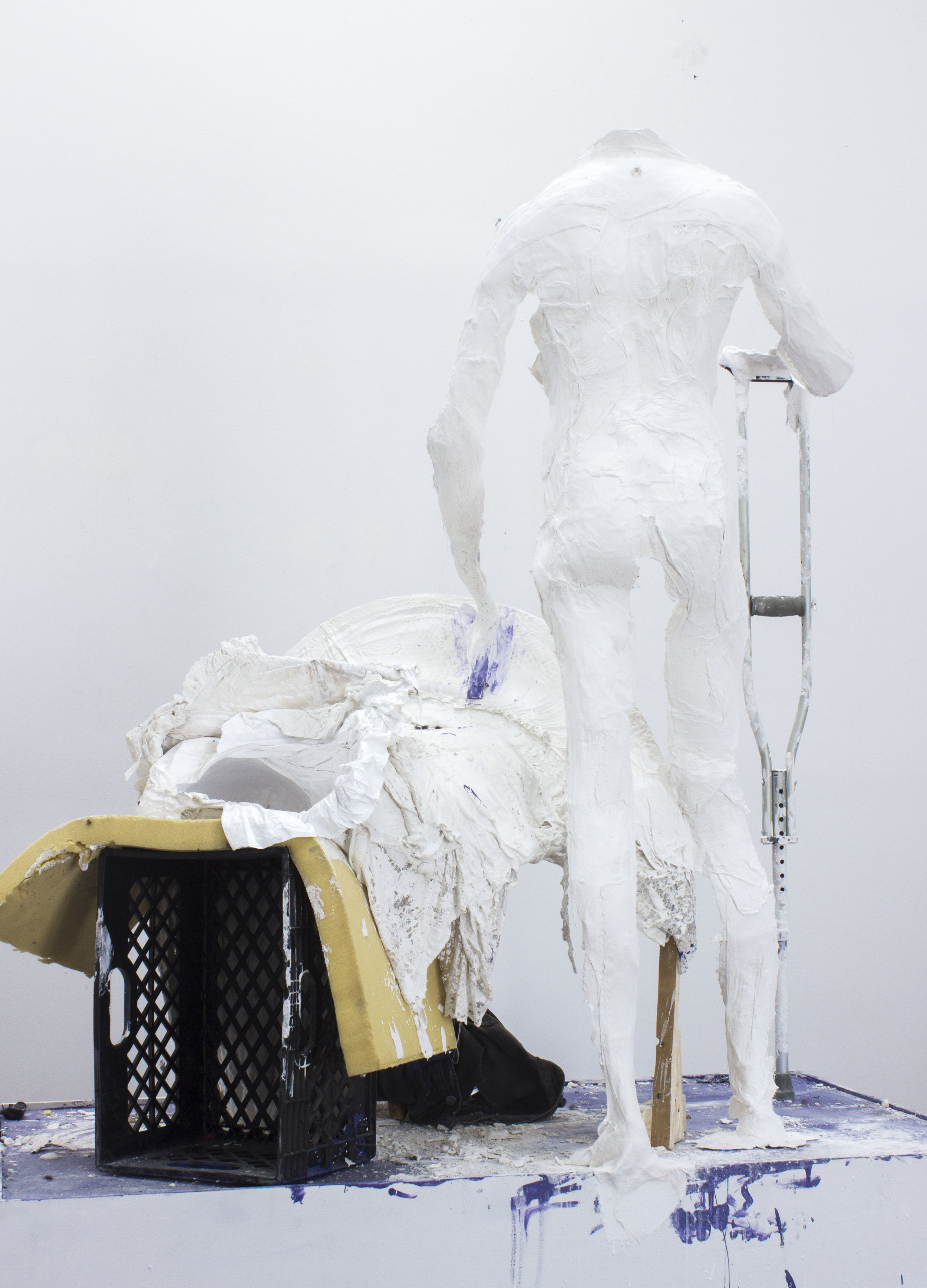 Mathew Savitsky and Noe   Olivas,  Husband/Wife Portrait (Performance Remnants) , 2017, mixed media, dimensions variable