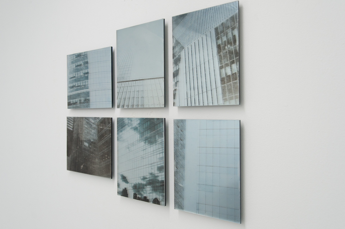 Elizabeth Karp-Evans, Mirrors and Windows (1 – 6) (detail) , 2018, inkjet print on Mylar, mounted on mirror, 10 × 8 in