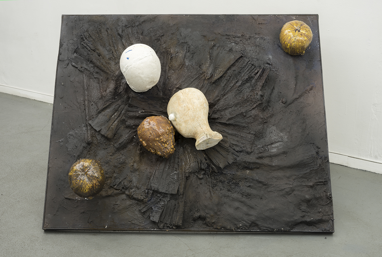 Brandon C Ndife,   Native to… , 2018, Cast resin, Aqua-resin, raw pigment, wood, steel, 32 × 48 × 18 in