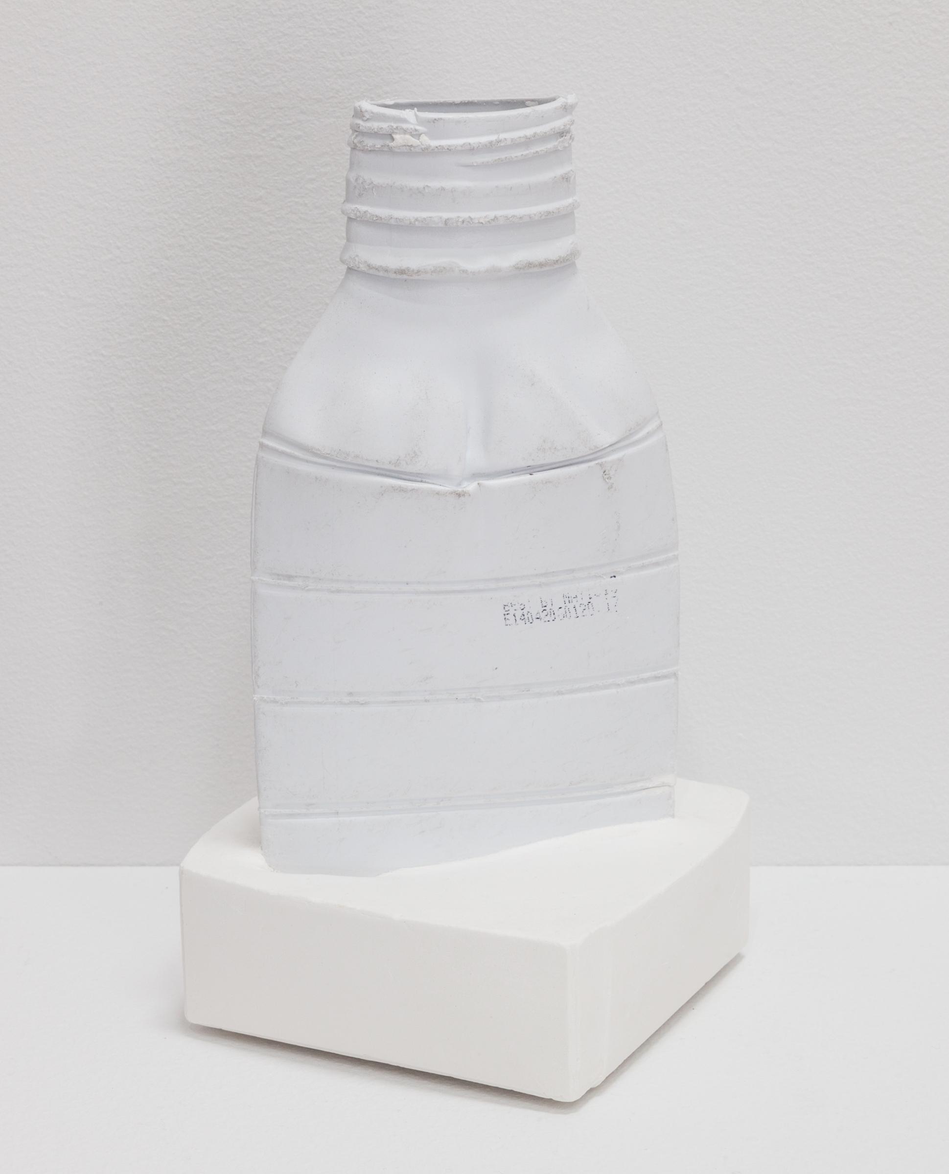 Deborah Hede,  White Plastic Bottle (large) , 2014, plastic bottle, plaster, 8 ¼ × 4 × 4 in