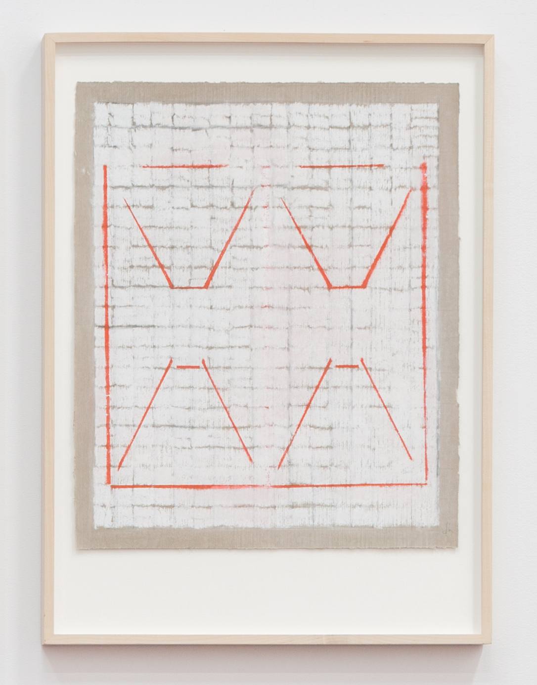 Deborah Hede,    Double Transport , 2009, graphite, pastel and enamel paint on paper, 26 × 19 in