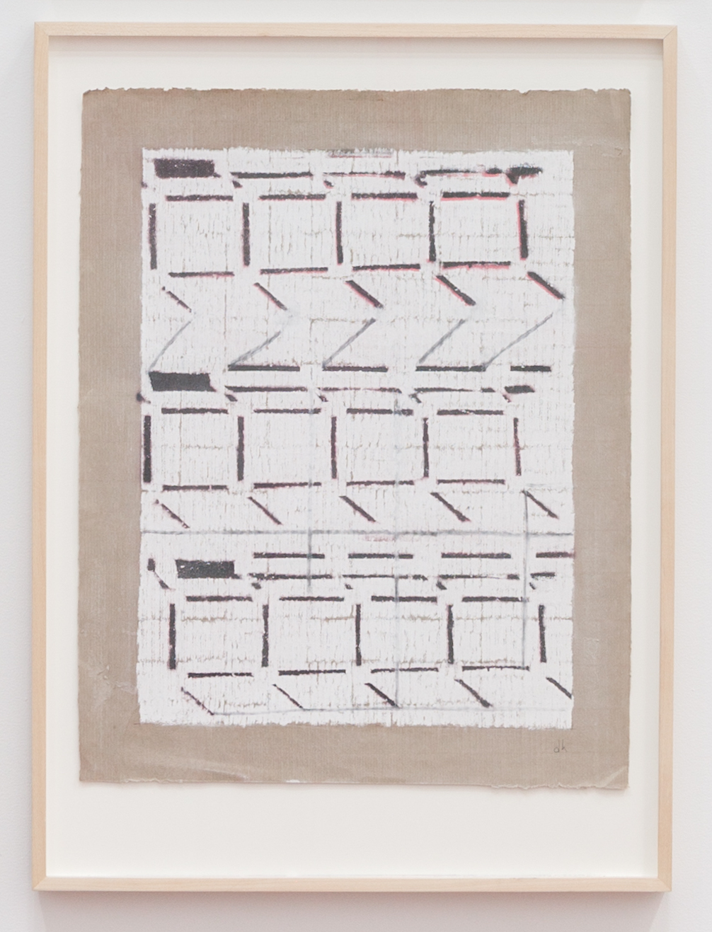 Deborah Hede,    Sequential Curb , 2010, graphite, pastel and enamel paint on paper, 26 × 19 in