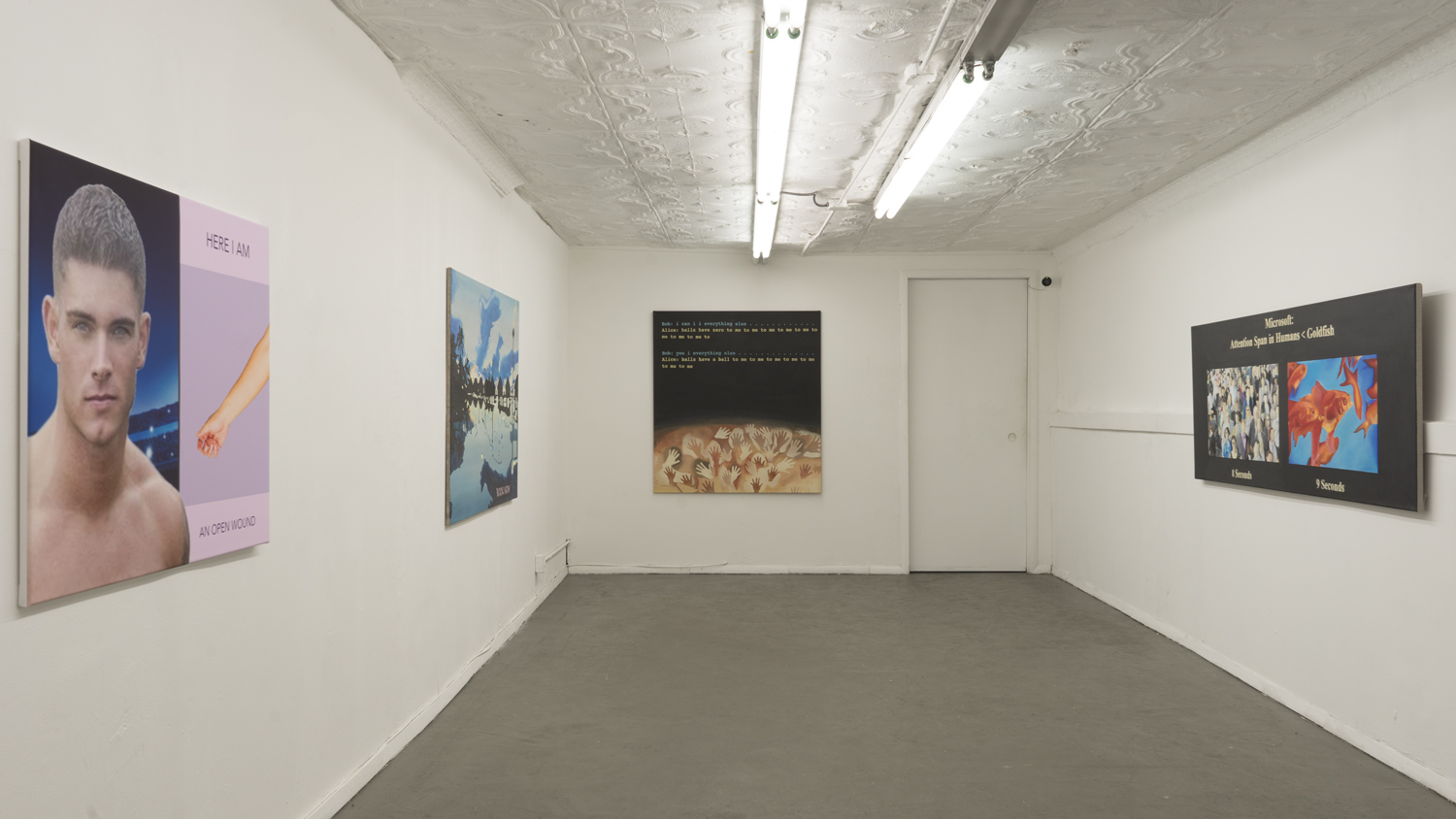 Installation view, FLAME, STL NY, 2019