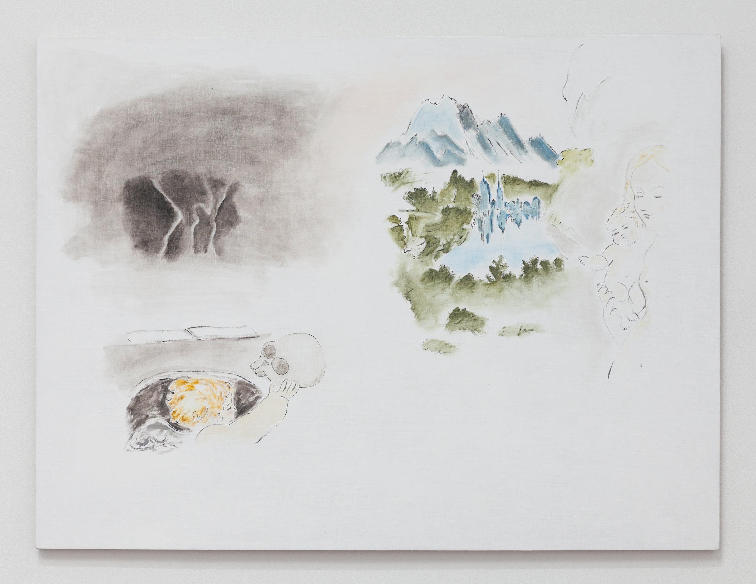 Tempesta de Fine Estate , 2019, oil on Linen, 36 × 48 inches (91.44 × 121.92 cm)