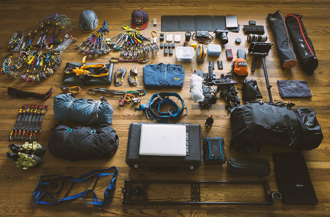 Yosemite Gear Prep .                 Photo: Andrew Petersen
