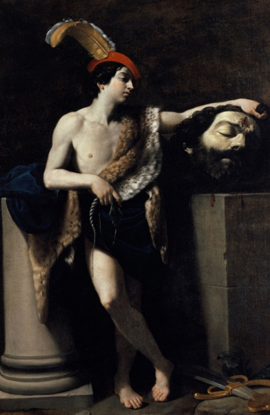 Fig. 2 Guido Reni,  David with the Head of Goliath , 1606. Musée du Louvre, Paris