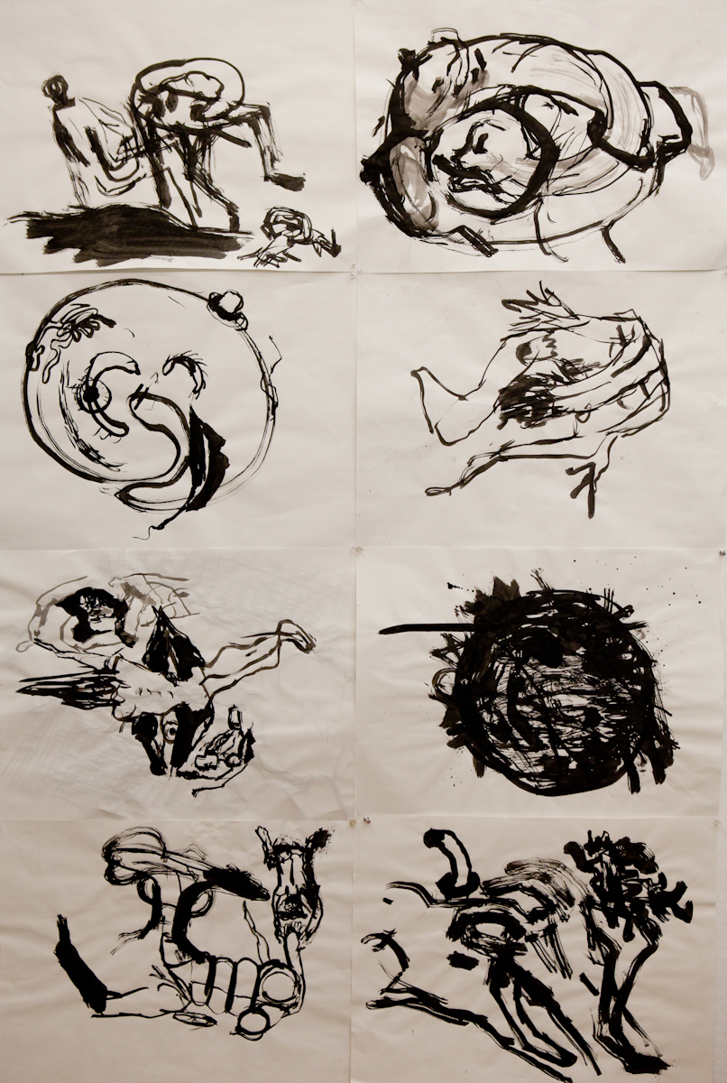 82 x 36 inches, ink on paper, 2011