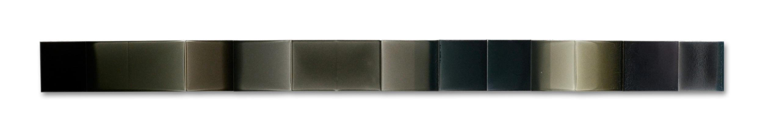 """Vertical Landscape, Black  108""""x 8"""" polymer on panel 2014"""