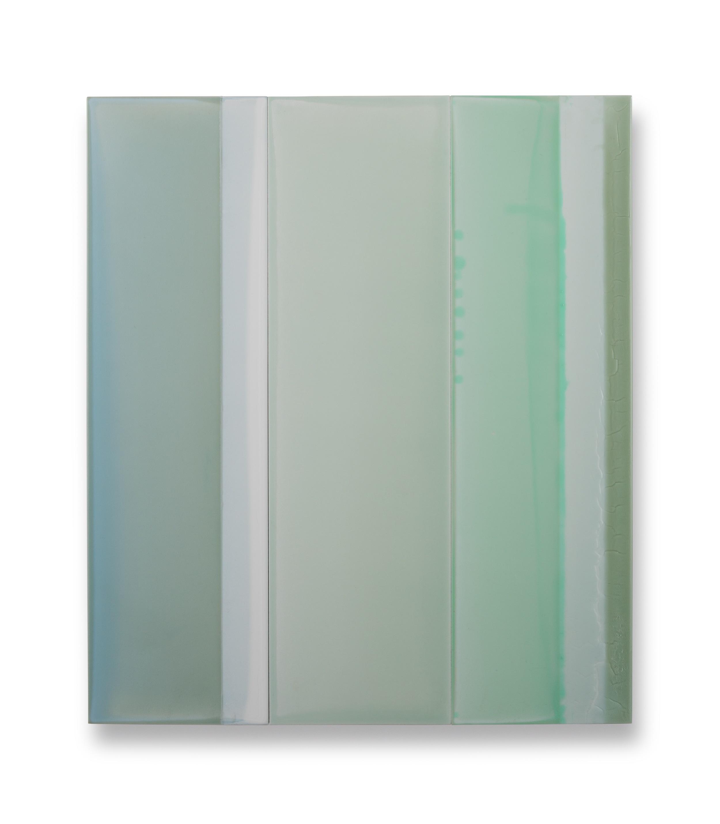 "Thirds No.1,  19""x 16.5"", polymer on panel, 2015"