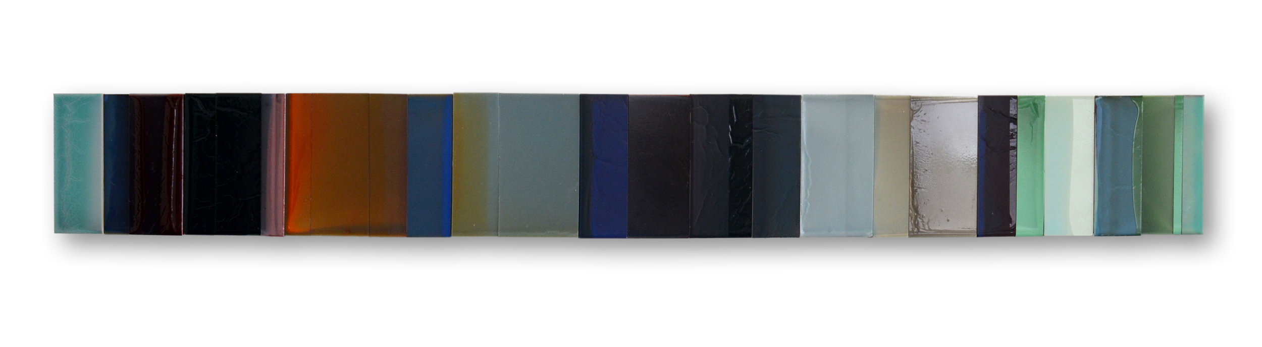 "Time No.1.  6""x 51"" polymer on panel 2015"