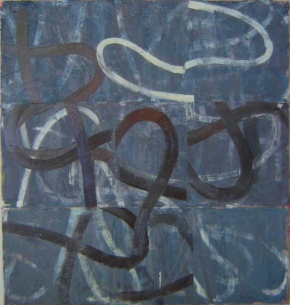 """Sideways  32""""x30"""" oil on linen 2006"""