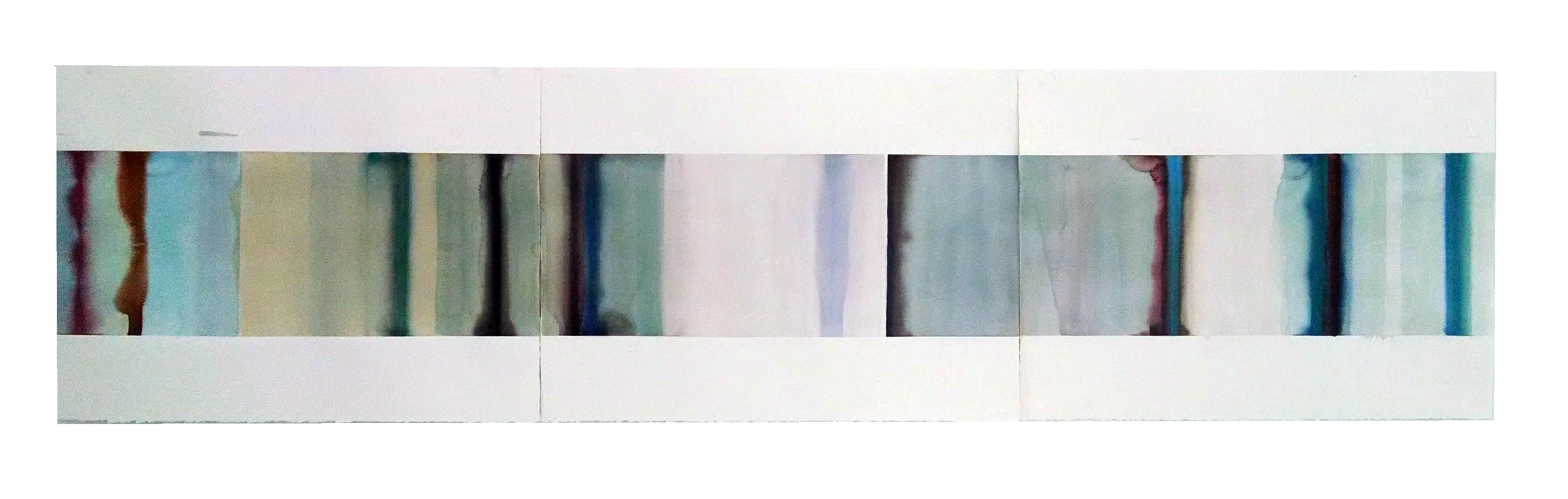 """LSW No.2,  22"""" x 90"""", watercolor on paper, 2015"""