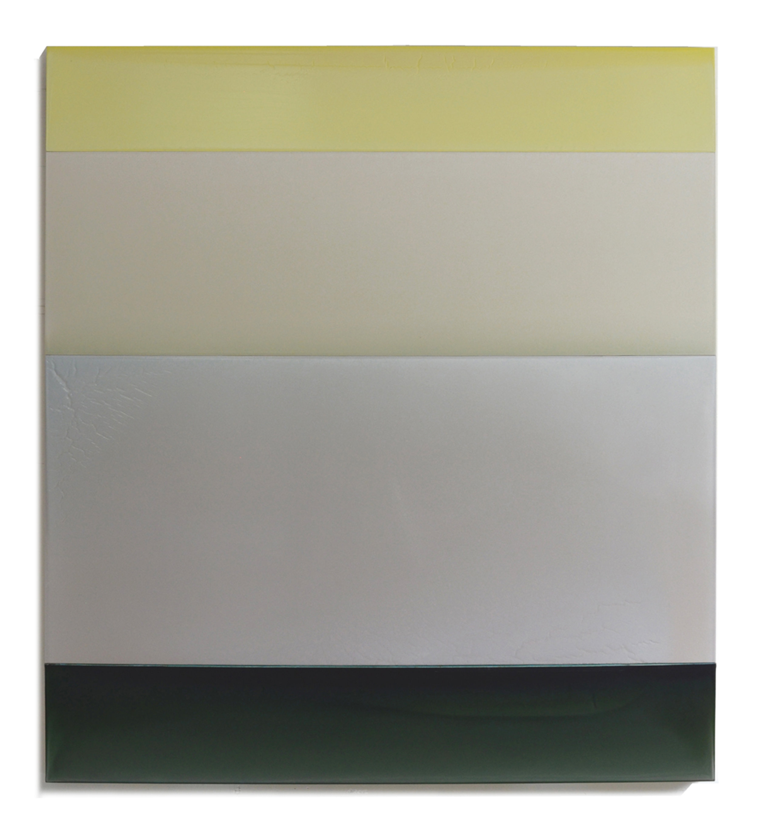 "Child's Sun  49"" x 44"" tinted polymer on panel 2017"