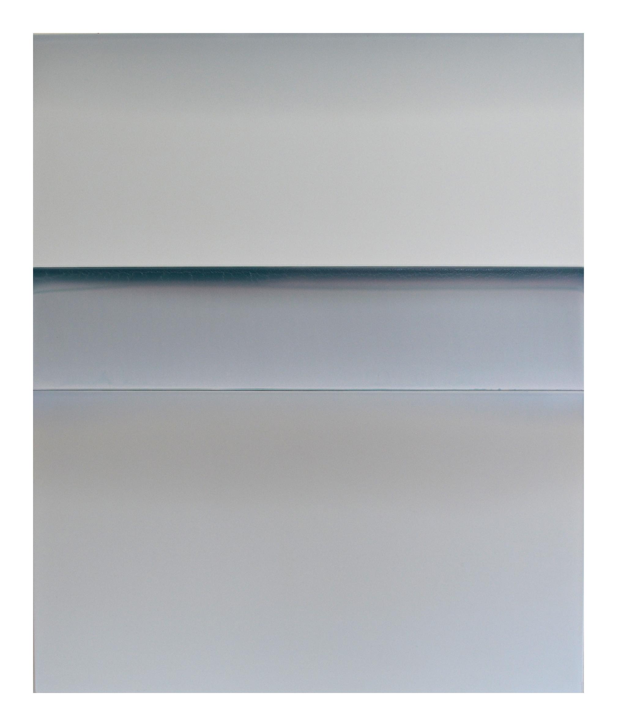 "Winter Beach   52"" x 43"" tinted polymer on panel 2018"