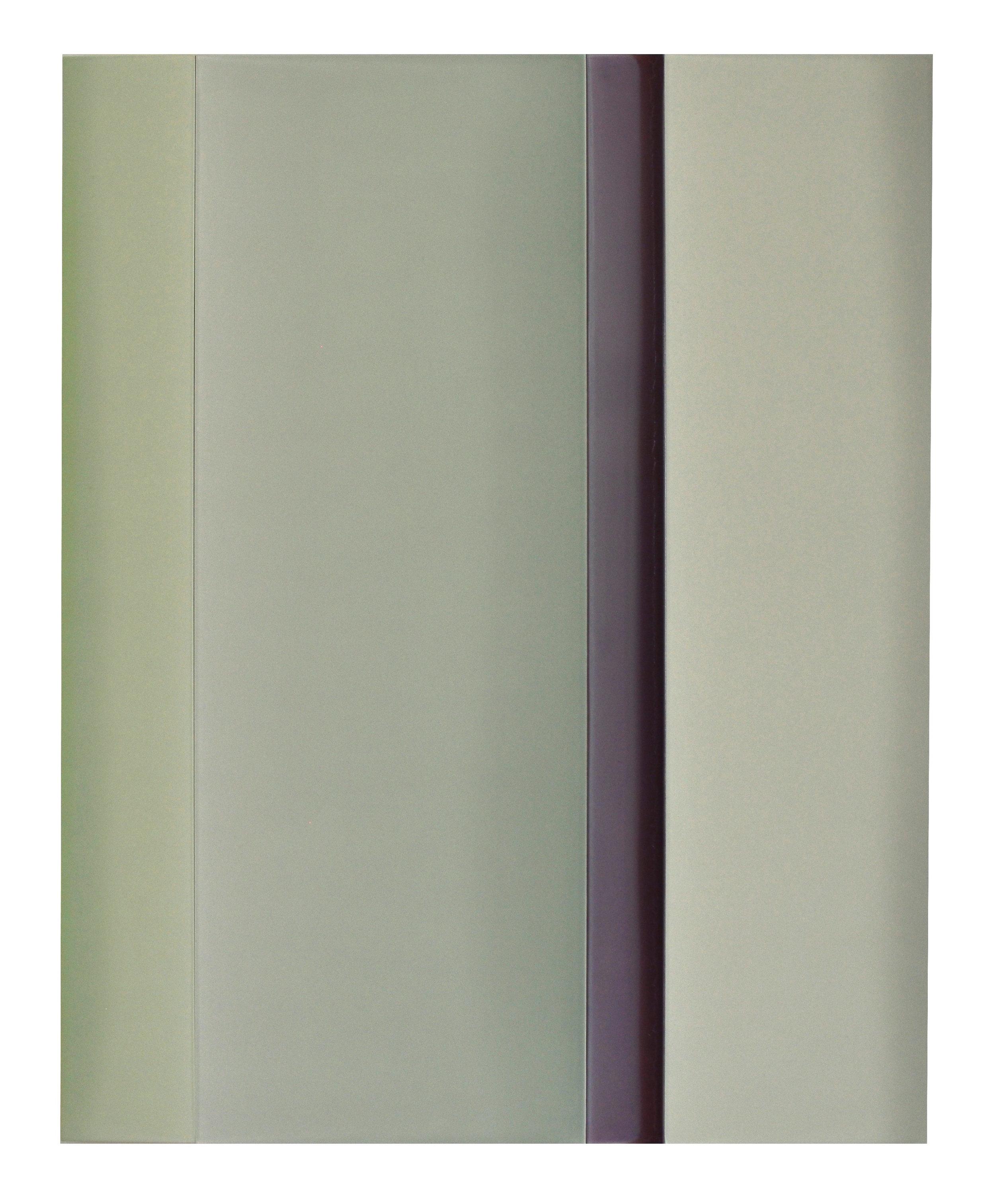 "Horizontal/Vertical   56"" x 45"" tinted polymer on panel 2018"