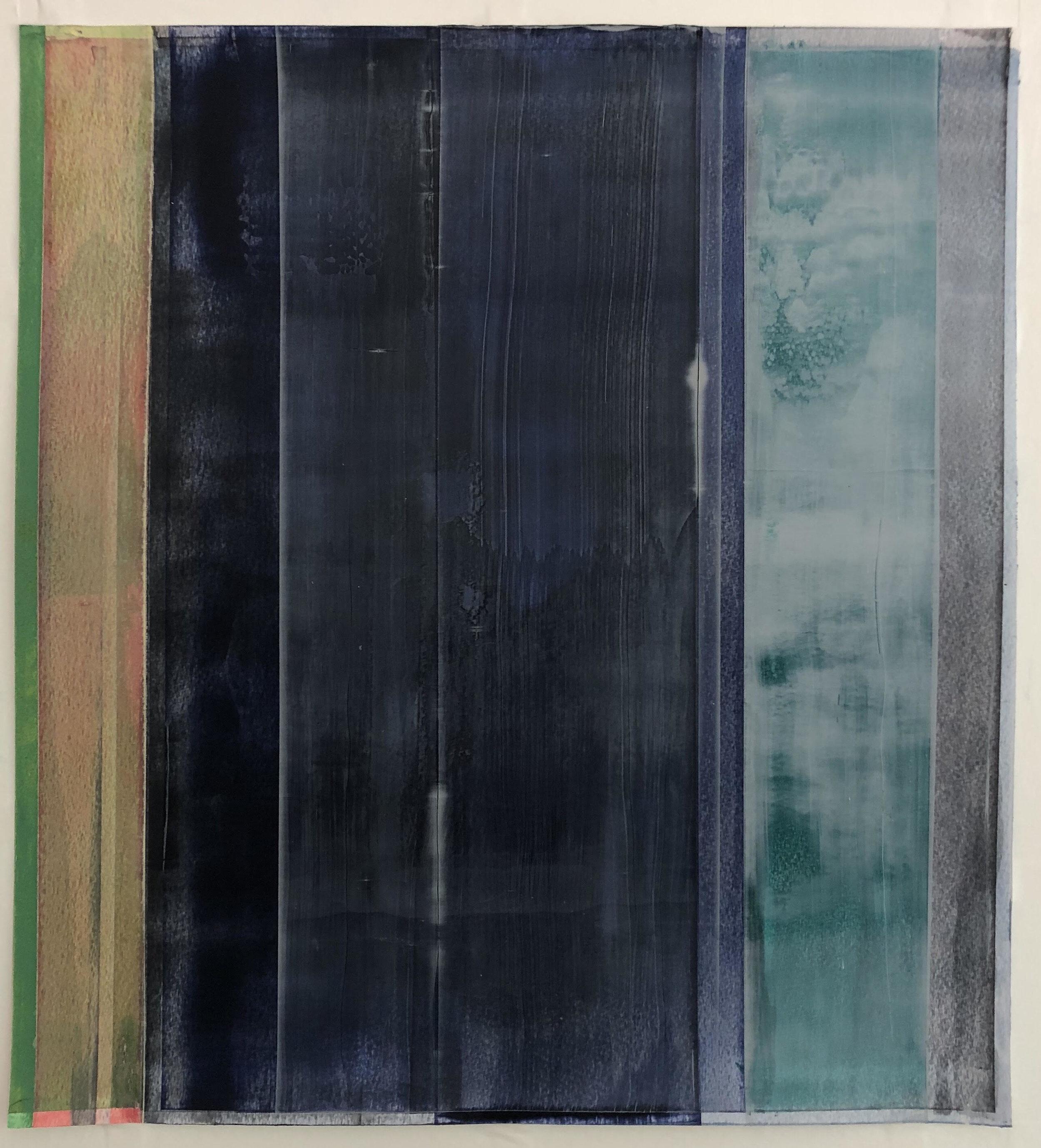"Green Edge,  22"" x 20""  acrylic on paper 2018"