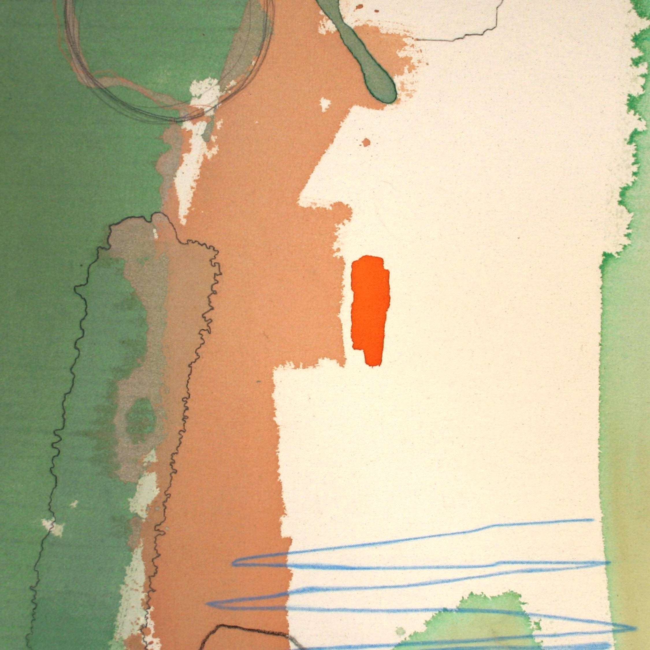 """Port Call , 2011  acrylic, pencil and oil pastel on canvas  20x20"""""""