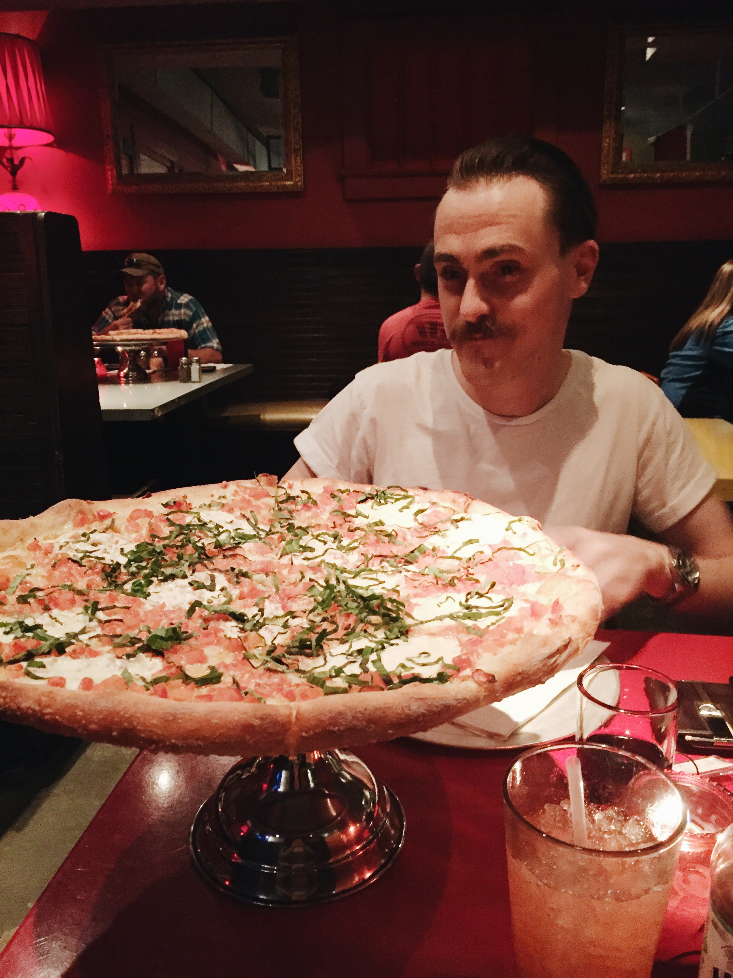Home Slice,1415 S Congress Ave - Everyone goes on about this pizza and it certainly didn't disappoint when it comes to size - everything's bigger in Texas! We stuck with the classic margherita and it was delicious.