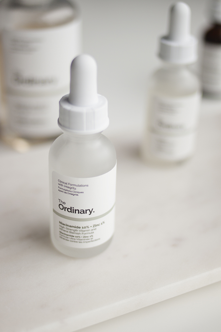 Niacinamide 10% + Zinc 2% - For whatever reason there seem to be very few products on the market that put niacinamide front and centre in the formula. The only other one I can think of off the top of my head is Glossier's Super Pure, which is half the size, a lot more expensive and really difficult to get your hands on outside of the US (and now Canada). I'm so glad I picked up The Ordinary's Niacinamide 10% + Zinc 2% as it's worked incredibly well for me.I typically only experience proper breakouts during that time of the month, but I'm often plagued with general uneven texture/congestion in the form of little bumps that don't turn into anything around my chin/jawline. After a couple of days of using this I immediately noticed a difference - it finally cleared up my persistent and very annoying congestion, which nothing else has ever really been able to do! Everyone's skin is different so I can't guarantee this will work for you, but it has definitely helped me and given how affordable it is I completely recommend giving it a try if you have a similar issue.I've heard reports about it pilling but I haven't experienced any issues with that myself, so I'm sure it depends on what products you combine it with. Aside from what it's done for my skin, Niacinamide has proven research behind it that shows that it also has the ability to improve the appearance of pores, help fade pigmentation and reduce the appearance of fine lines. Personally, I'm completely sold on this product.