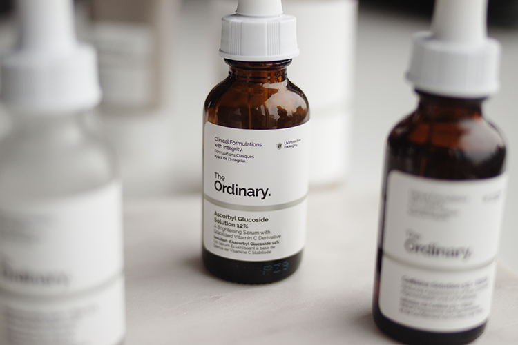 - Anyway, back to the one I've tried - while I enjoy the light serum-gel texture of the Ascorbyl Glucoside 12%, in fact more than the Hylamide Booster C25 because it doesn't run through your fingers when you're trying to apply it, I'm quite sure that it's less potent than the Hylamide offering, but that's based on research not from a difference in my experience. Vitamin C is a tricky one because I use it more for it's antioxidant protection than anything else. It also helps fade pigmentation, but so do acids and retinol which I also use regularly, so I can't say I notice a major difference when I try a new vitamin C product.