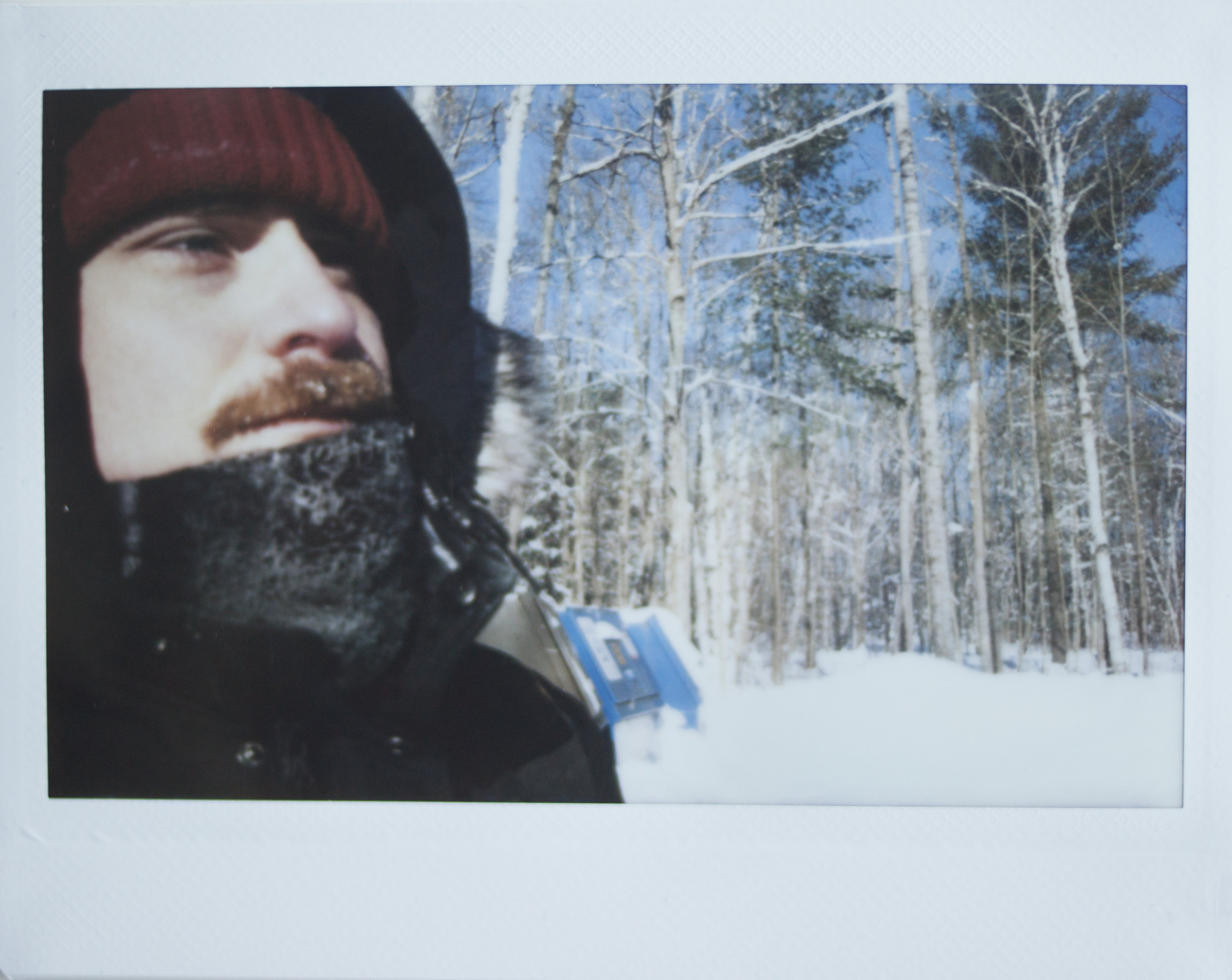 - We went ice skating on a natural trail in Algonquin National Park in -27°C, which was both incredibly cold and beautiful at the same time. If you try to cover your face with a scarf your breath condenses and freezes straight away so your scarf gets frosty. It was pretty funny seeing our friend's beard and my boyfriend's moustache with frost and little icicles in it! We also went tobogganing on our friend's brother's property, ate lots of snacks, played lots of board games by the fire and generally had a lovely time.