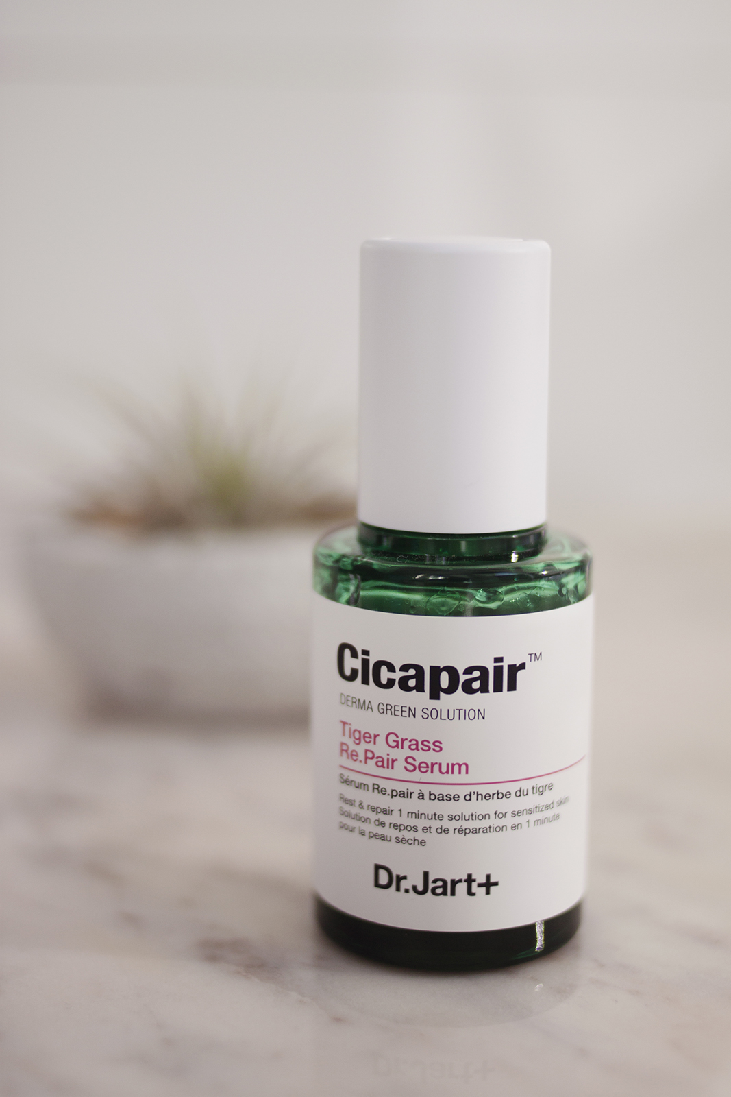 Niacinamide + Hydrating Serum - Is this entire post me talking about replacing Deciem products? Almost. I've mentioned in the past how much my skin benefitted from using a dedicated niacinamide serum, namely the Niacinamide 10% + Zinc 1% from The Ordinary, and although it meant paying a fair bit more, I wanted to try something else. The Dr. Jart+ Cicapair Tiger Grass Re.Pair Serum (AU) caught my eye because niacinamide is listed as the fifth ingredient. It's probably not in there at 10%, but the bonus is that this serum also contains glycerin as well as various plant oils for hydration. With my oily skin, find this doubles up as a hydrating serum as well as my dose of niacinamide (although I do follow with a moisturiser or oil afterwards) so it's a two in one.This serum is based around what Dr. Jart+ refers to as the Centella Asiatica Complex, which is a group of four extracts of the Gotu Kola plant (Tiger Grass) – Madecassoside, Madeecassic Acid, Asiaticoside, and Asiatic Acid. These extracts have been proven to be beneficial in the treatment of small wounds, burns and skin conditions like psoriasis. They encourage the skin to build fibroblasts (essential for wound-healing), and collagen, while also inhibiting the development of scars. Fortunately I don't have any burns on my face, but that sounds like an excellent way to help your skin repair itself after a breakout to me. If you have particularly sensitive or reactive skin this could definitely be one to look at. The product is a pale green, watery liquid housed in an excellent dropper bottle. When you unscrew the lid, a button pops up from the top and you press it to dispense the product. When you screw the lid back on, the dropper automatically refills itself, and I find that one pump is the perfect amount for my face – it's the little things, you know? I'm glad I decided to take a chance on this because so far I'm really enjoying it and I think it's a great serum.