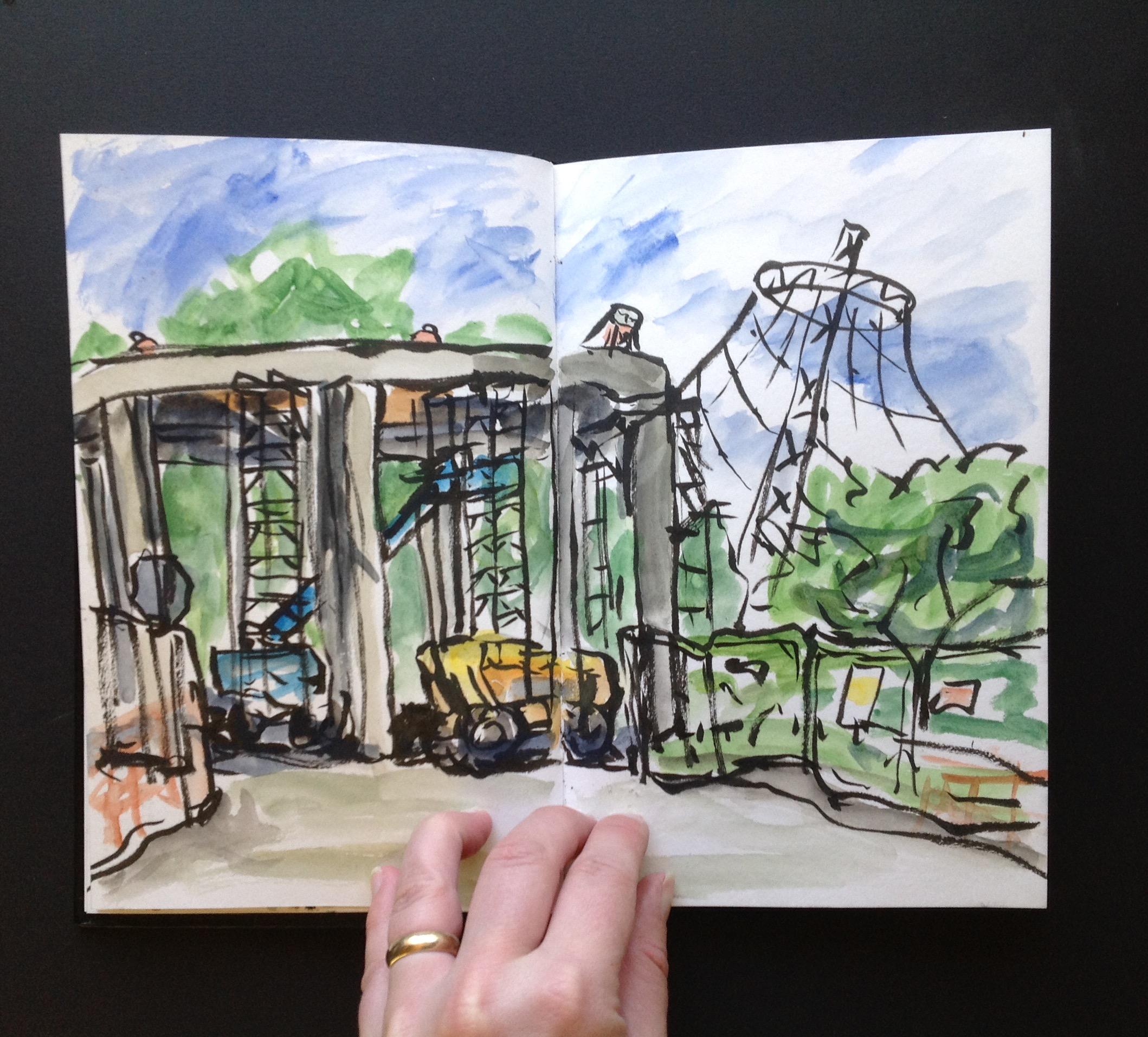 Riverfront Construction Sketch 2