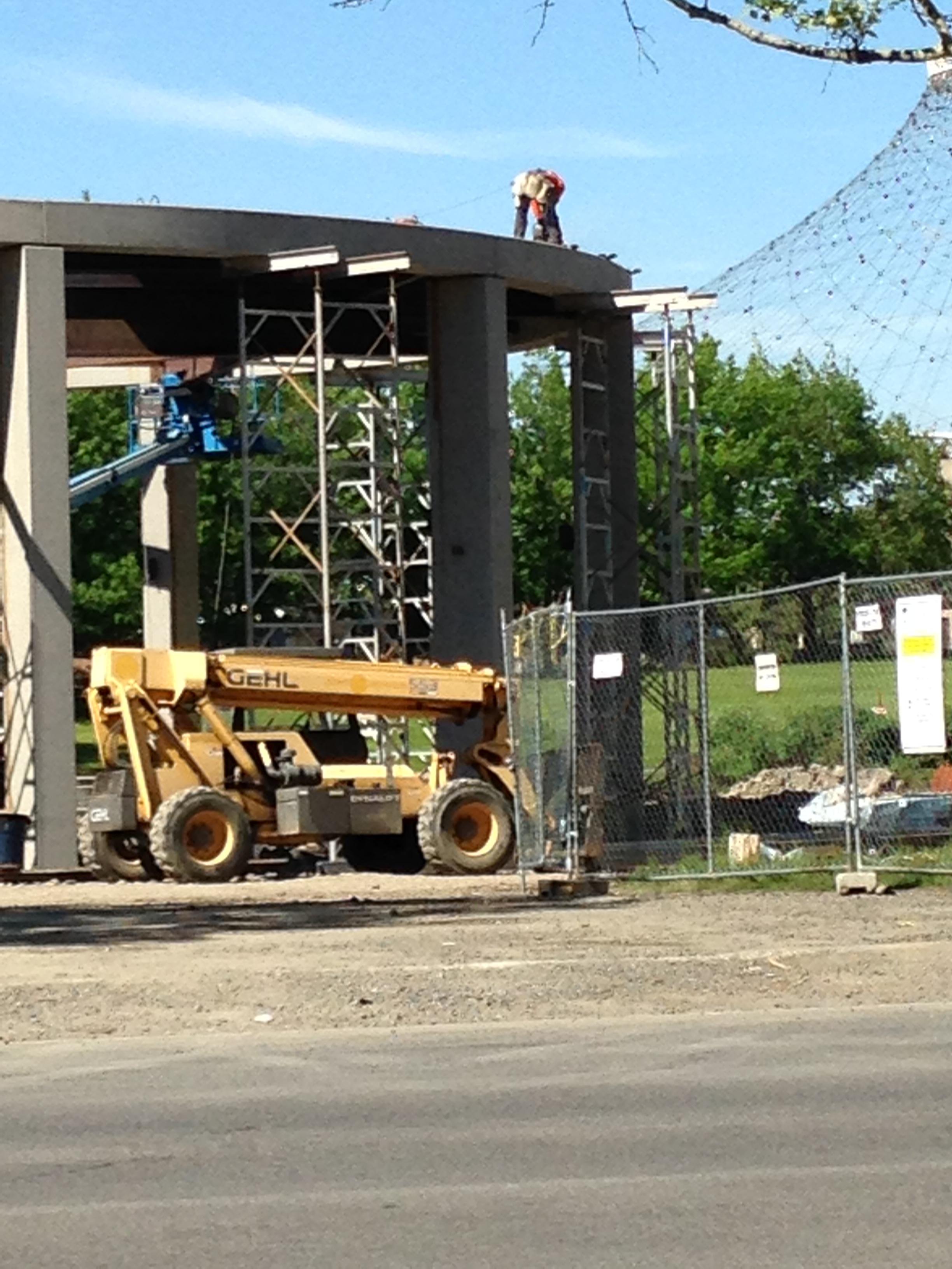 Riverfront Construction close up