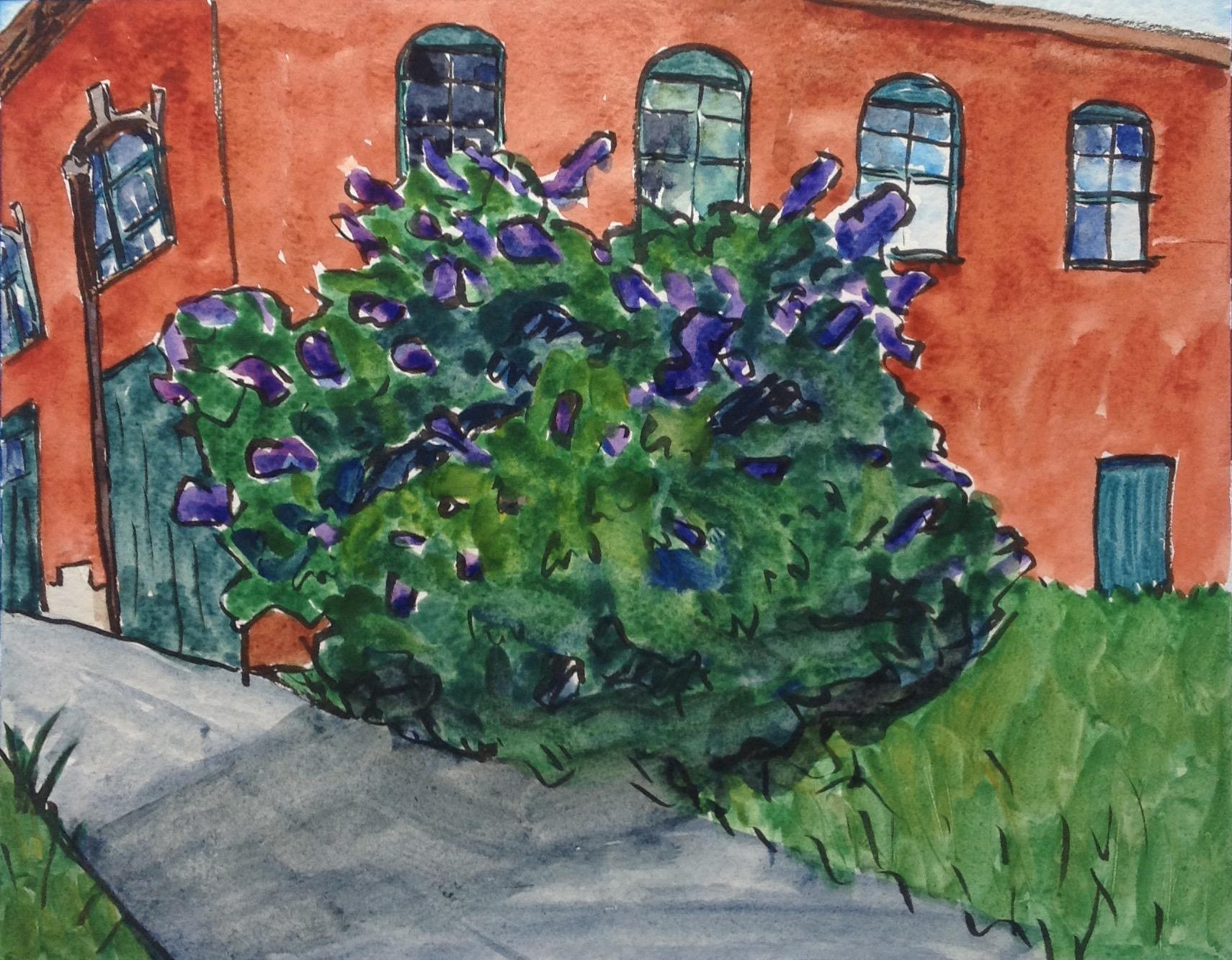 Lilac and Brick