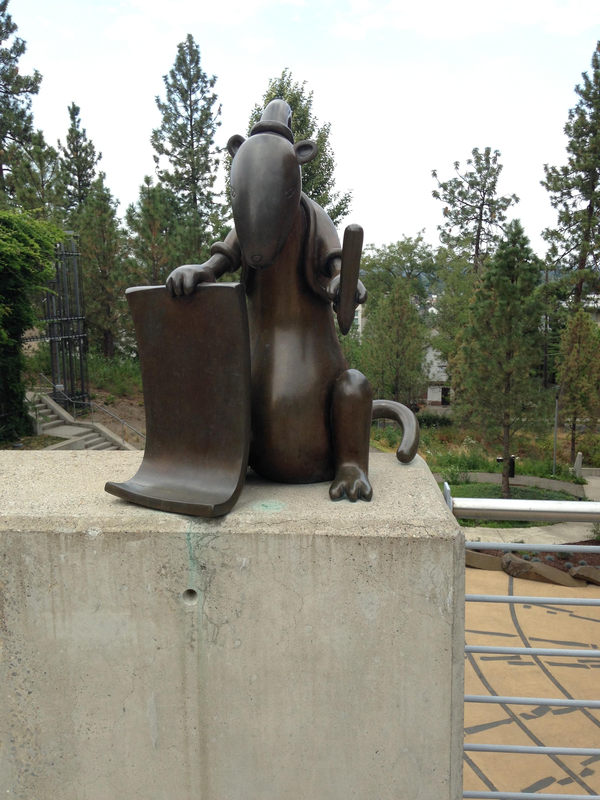 Weasel Sculpture