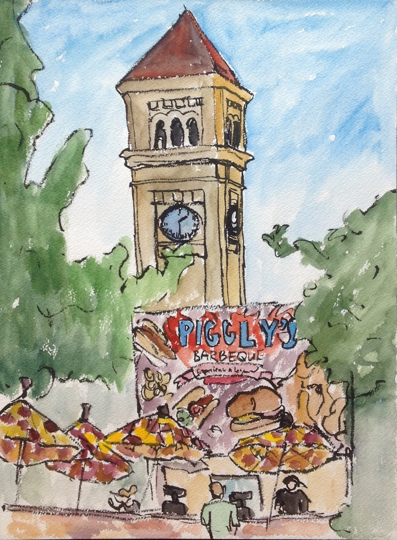Pig Out Under the Clock Tower