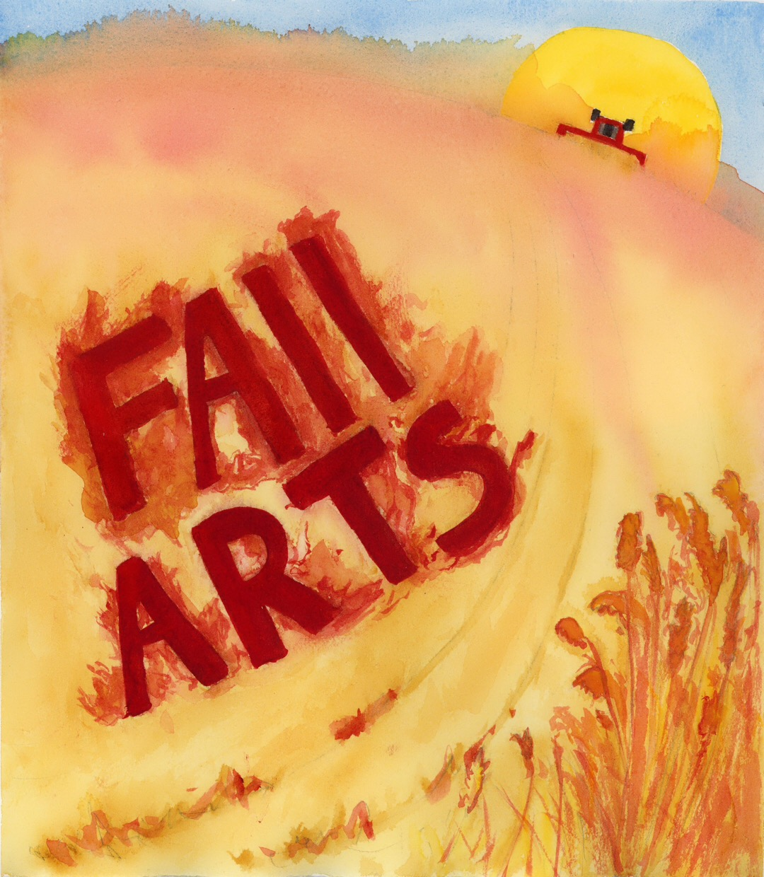 This is the cover of the Fall Arts Pull Out inside the newspaper. Surrounded by wheat and with the way the past few summers have been, it isn't surprising that this is what came to mind when I thought of fall around here.