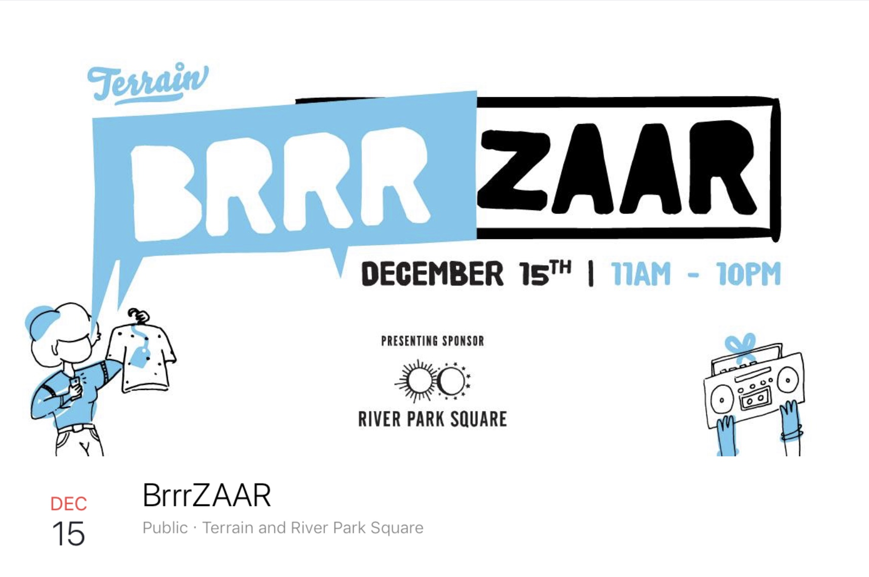 My last Holiday Show of the Year with Terrain's BrrrZaar! 11 am-10PM at Riverfront Park. I'll have a small handful of books if you didn't grab one during the Kickstarter. I've looked at the list of vendors participating and it is going to be such an awesome show! I may have to do a bit of shopping myself. I hope to see you there!