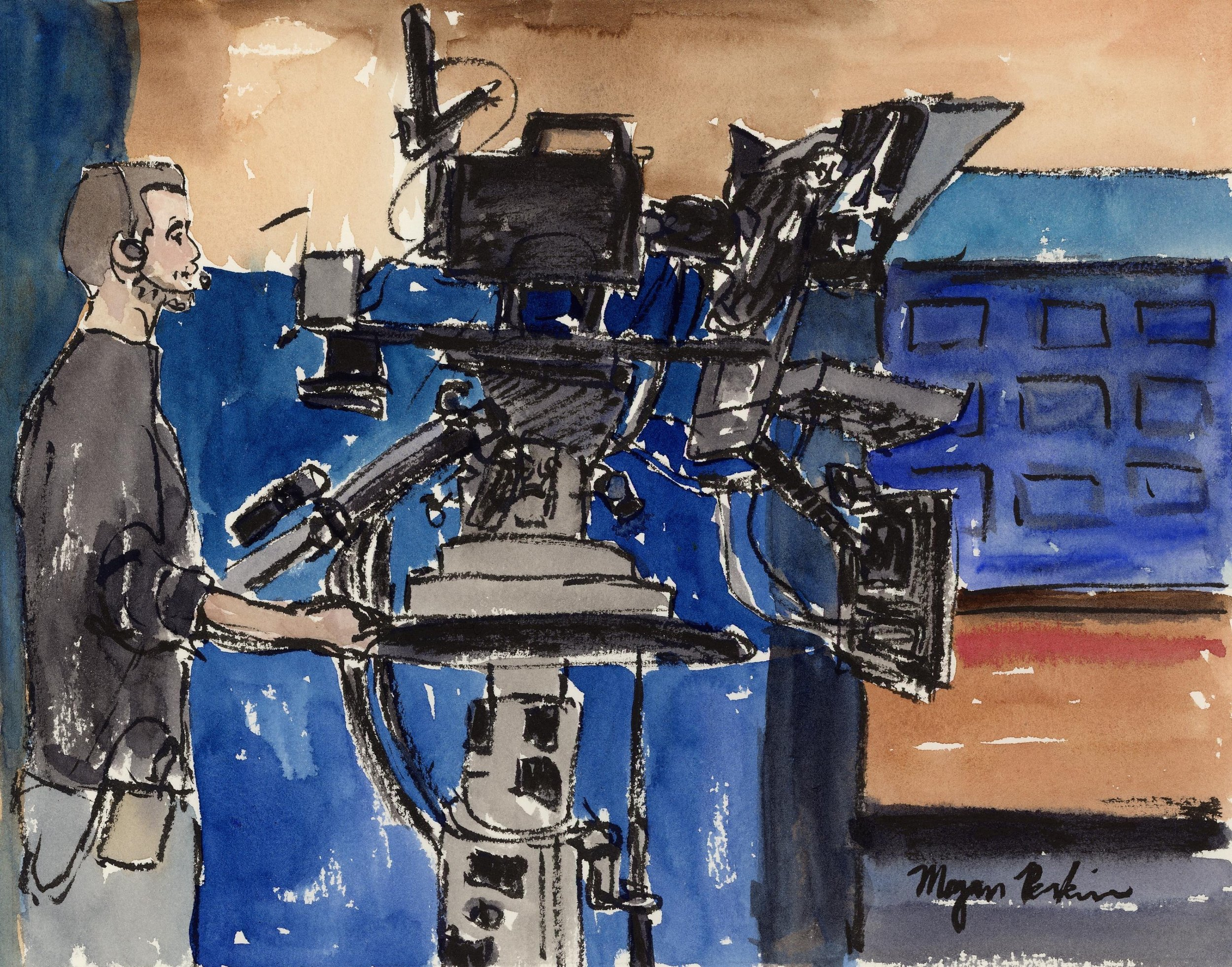 In April, I went on KXLY's morning show, getting up at 4 am to do so! I painted at the station in between segments and had a lot of fun, though I don't know how the news anchors are so cheery every morning (Coffee, lots of Coffee).