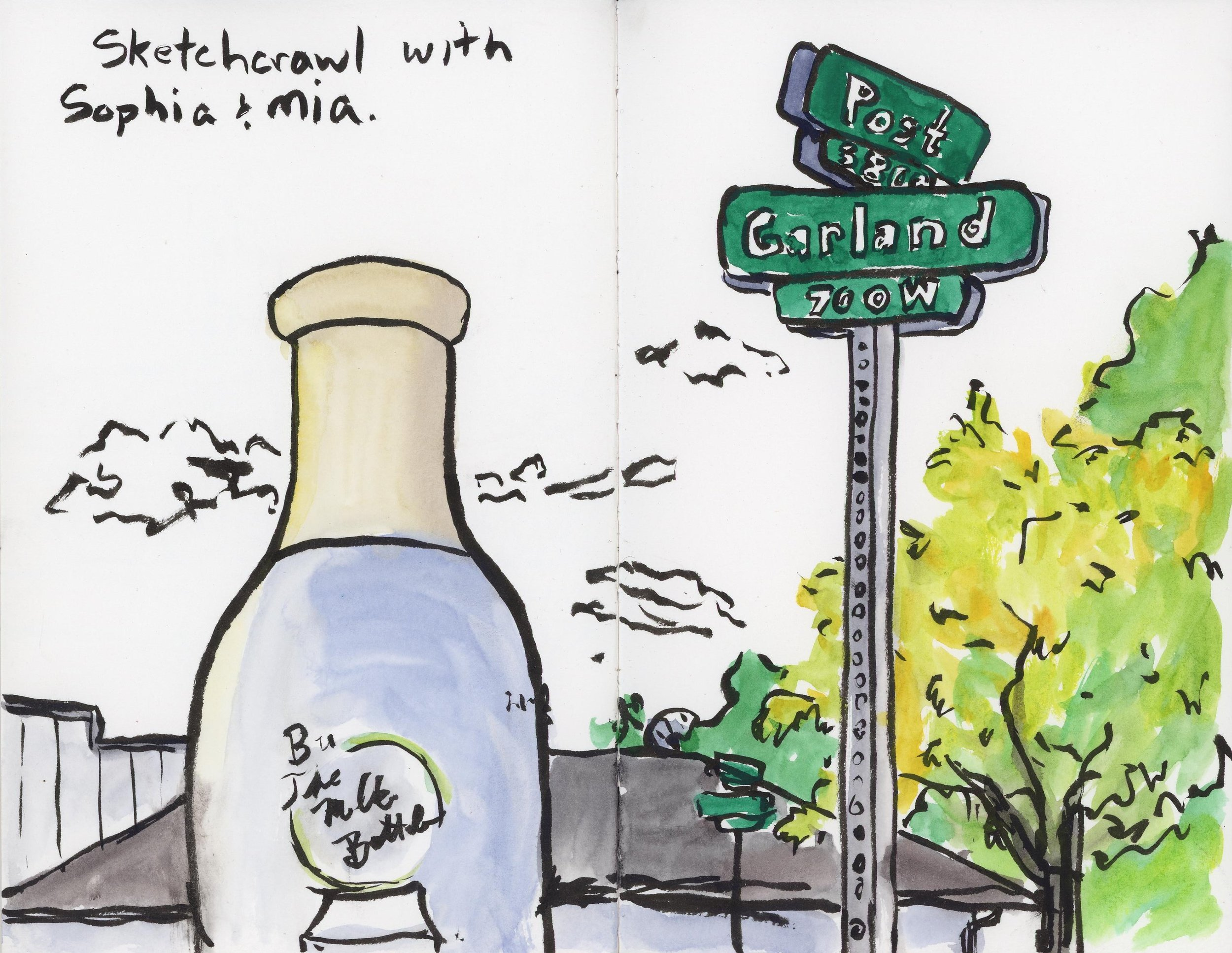 I taught several classes at the Spokane Art School and Corbin Art Center, including a couple sketch crawls through the Garland neighborhood throughout the spring and summer.