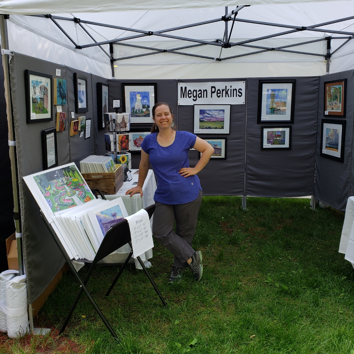 I'll be at Art on Blacktop up at 29th Ave Artworks in my fancy new white tent June 21st-23rd! I'd love to see you!  And thanks to everyone who came out to see me at Artfest this past week. I really appreciate it!