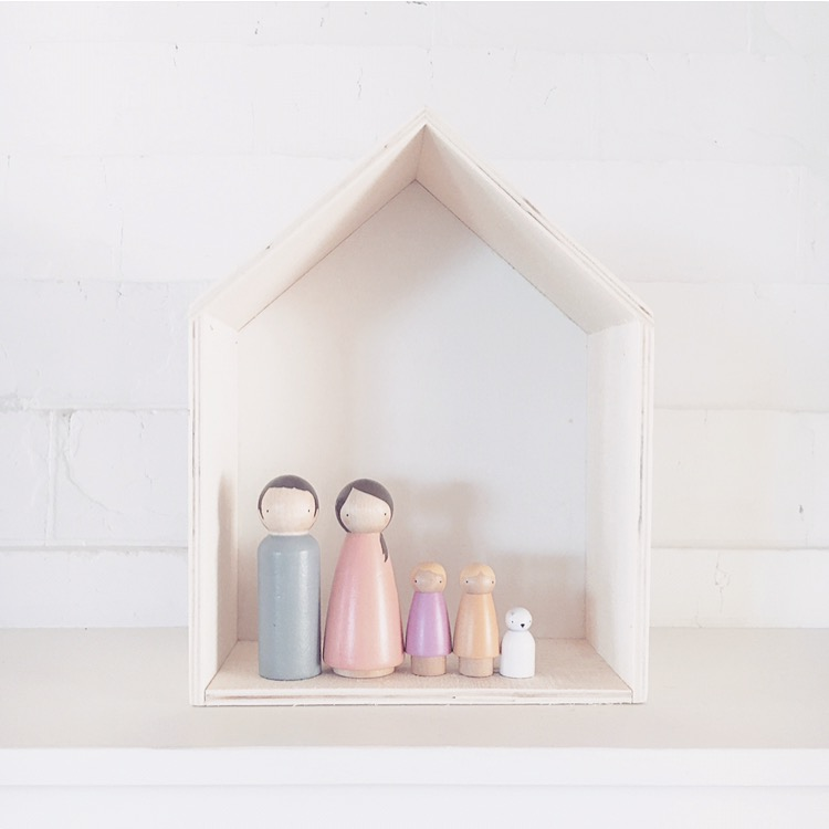 Wooden Doll Family from Bear & Co.