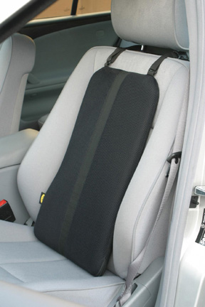 placed Back to Back cushion on car seat
