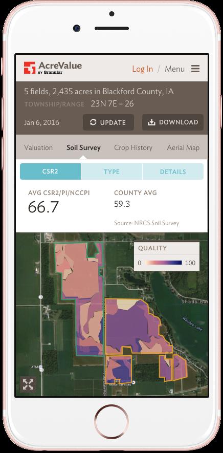 AcreValue: Mobile: Soil Quality