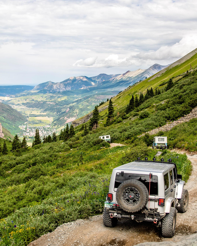 Descent from Black Bear Pass