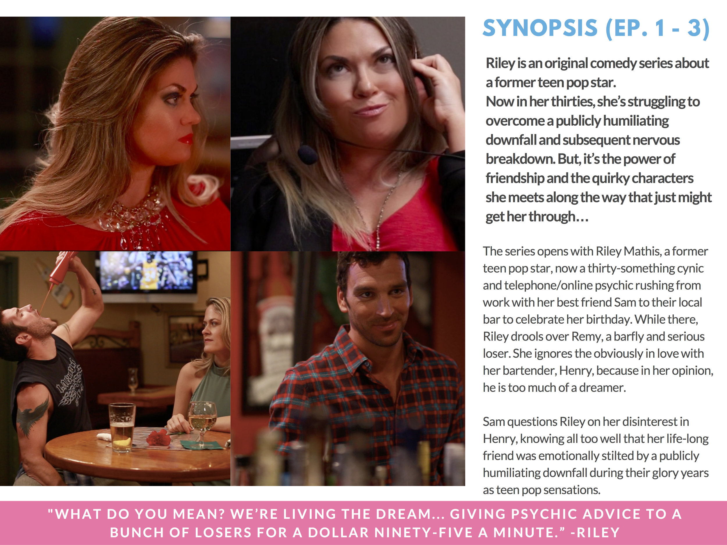 RILEY PRESS KIT - PAGE 5 ( SYNOPSIS )  - CLICK FOR HIGH RES JPEG