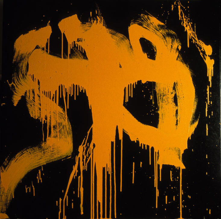 Yellow on Black    oil on canvas   1996